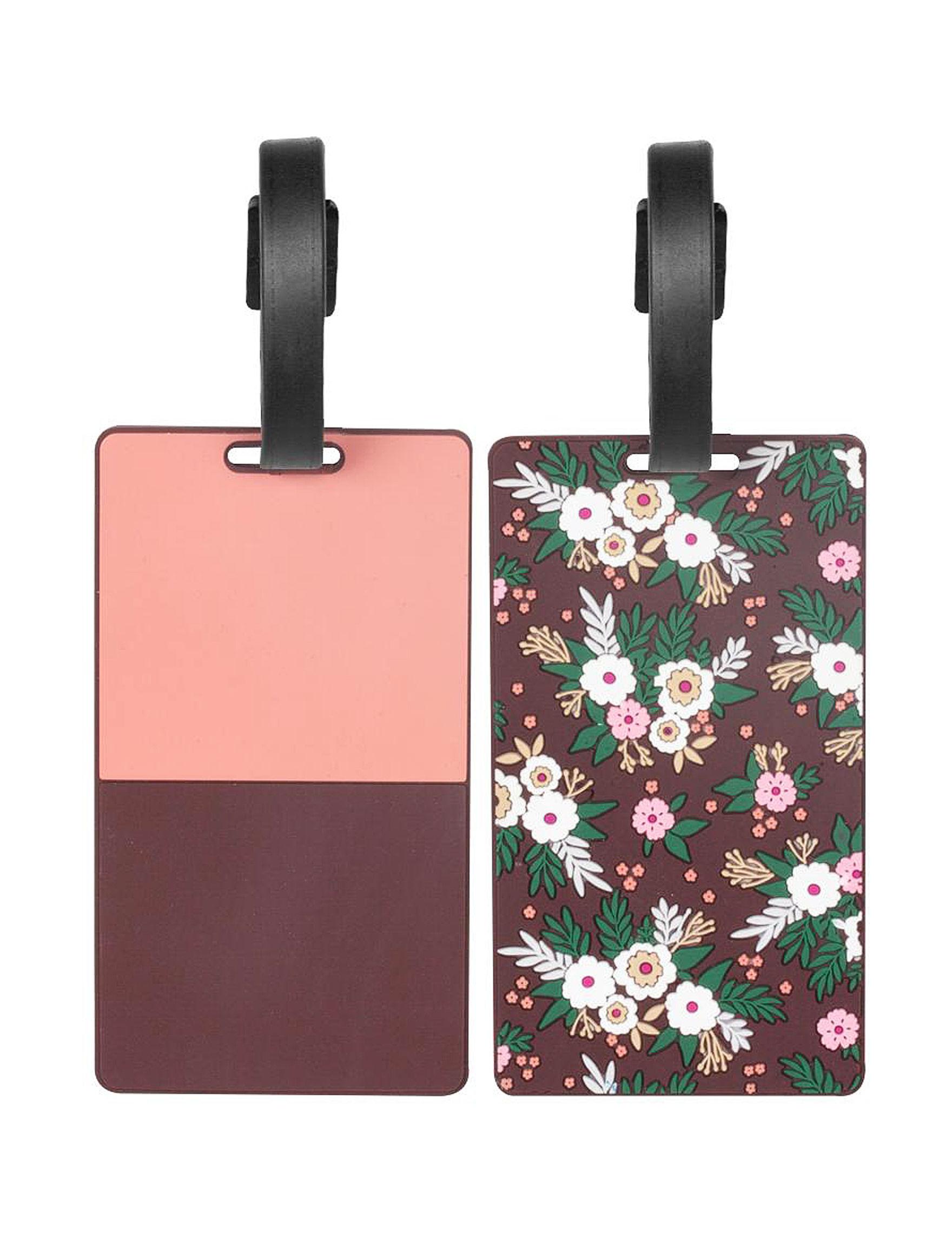 Ellen Tracy Pink Multi Travel Accessories