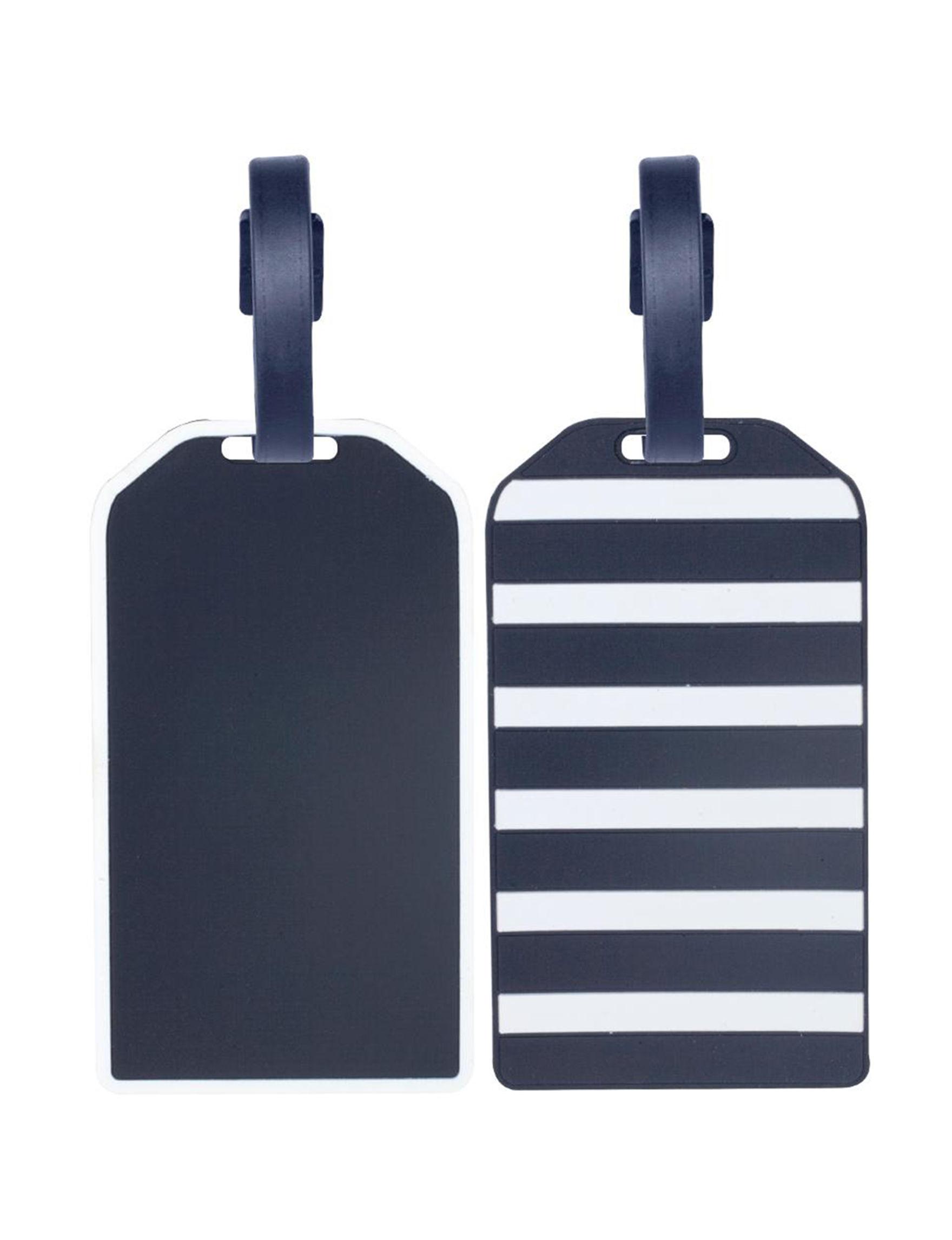 Isaac Mizrahi Blue / White Travel Accessories