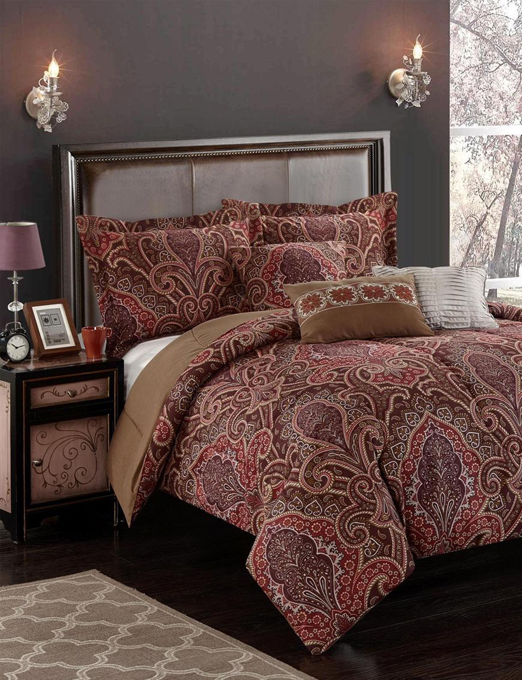 Casa Burgundy Comforters & Comforter Sets