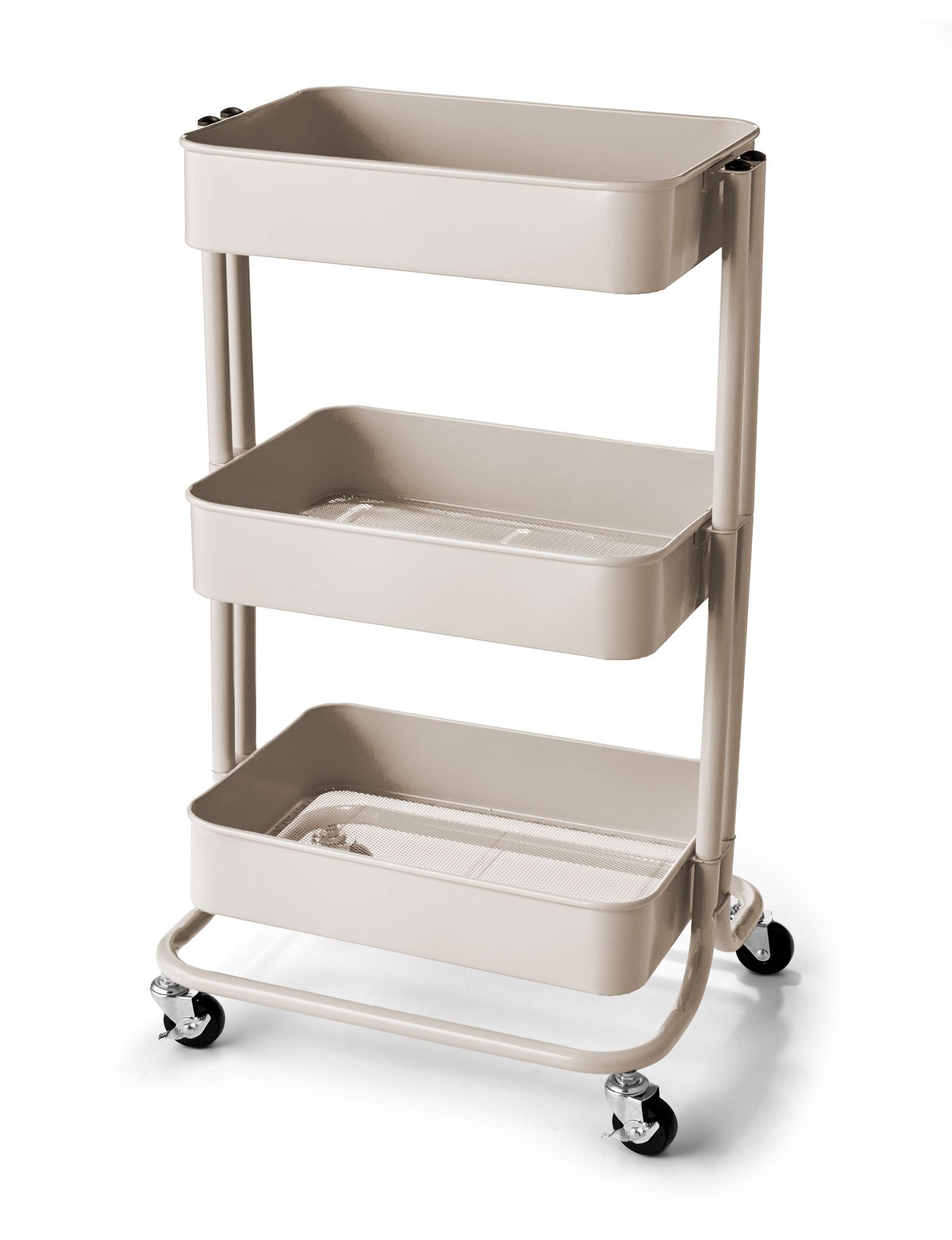 Urban Shop 3 Tier Rolling Storage Cart Stage Stores