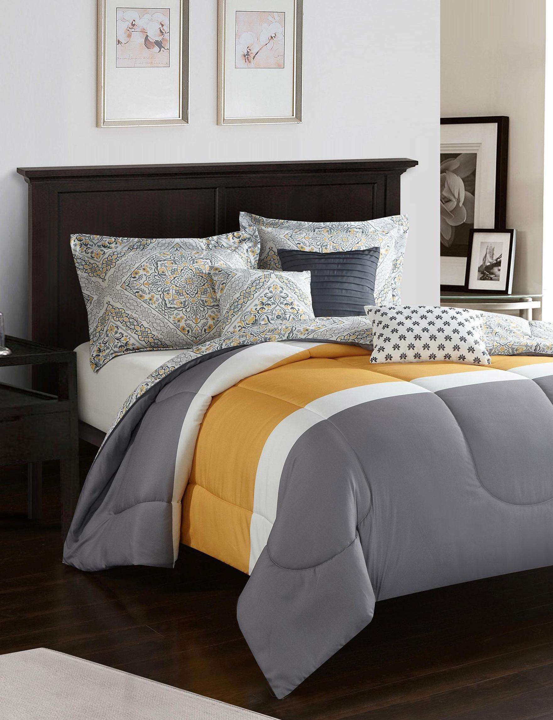 Idea Nuova Grey / Yellow Comforters & Comforter Sets