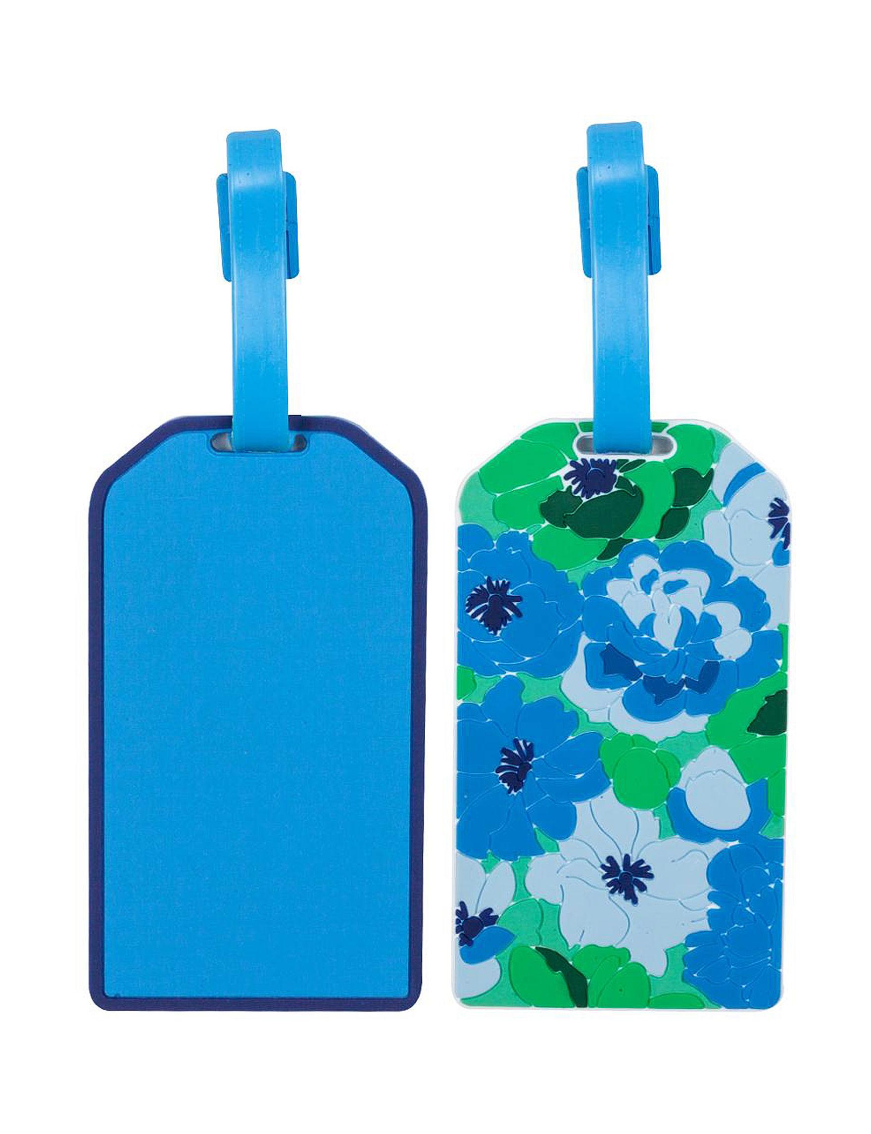 Isaac Mizrahi Blue Floral Travel Accessories