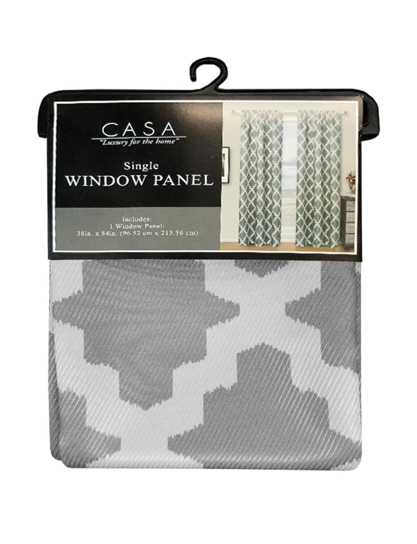 Casa Grey Curtains & Drapes Window Treatments