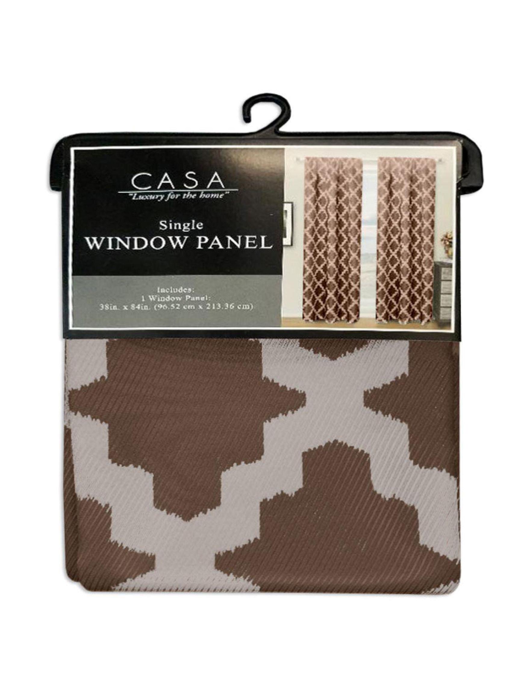 Casa Chocolate Curtains & Drapes Window Treatments