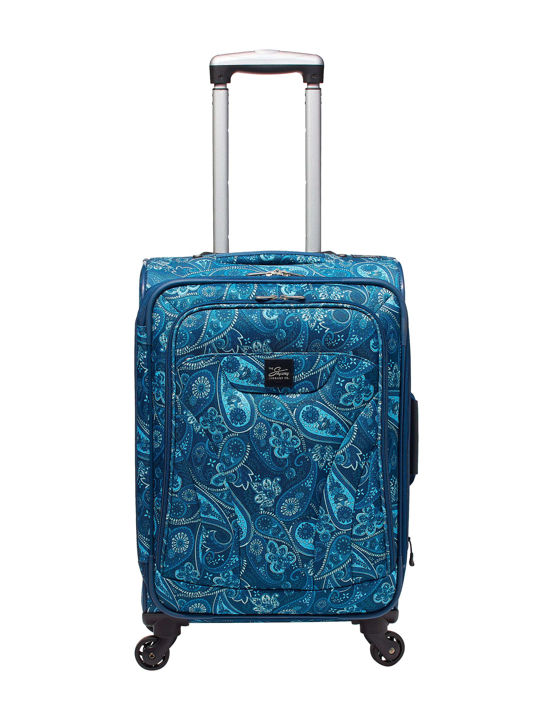 Skyway Blue Paisley Softside Upright Spinners