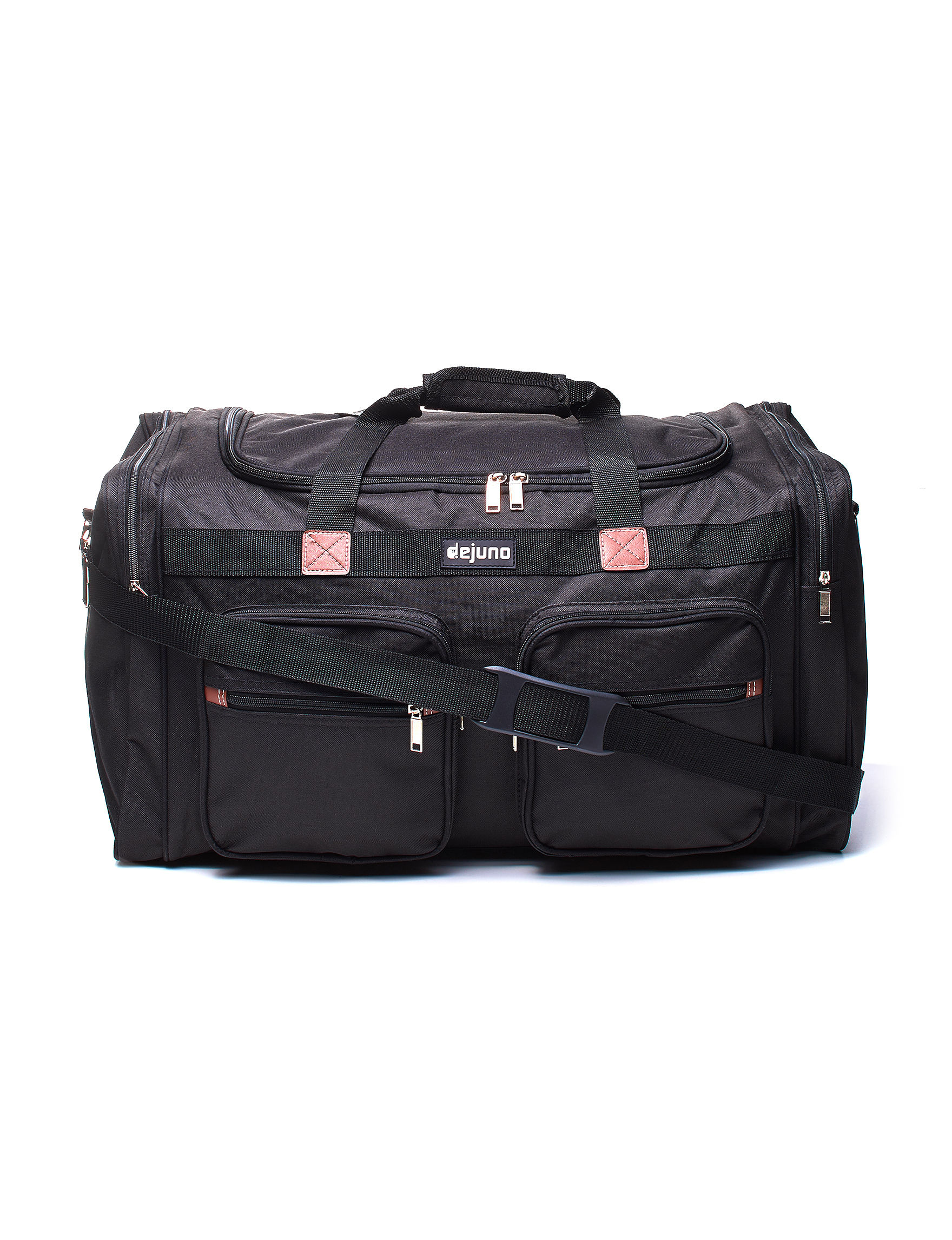 Dejuno Black Carry On Luggage Duffle Bags