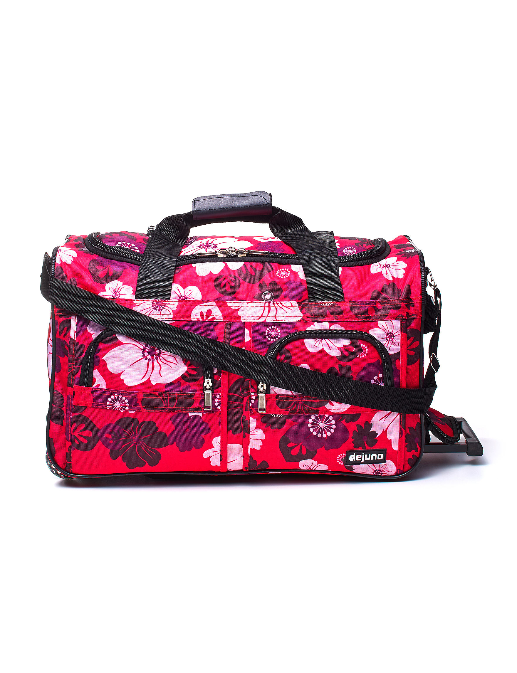 Dejuno Pink Floral Duffle Bags