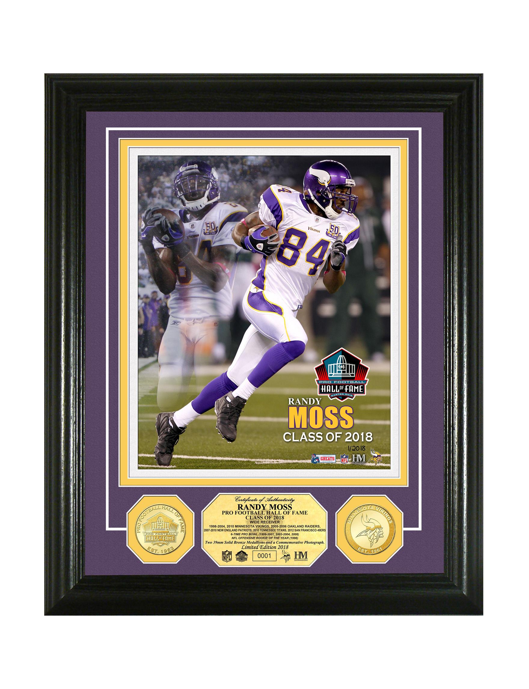 ab0d947b845bd Minnesota Vikings Randy Moss Pro Football Hall of Fame Induction ...