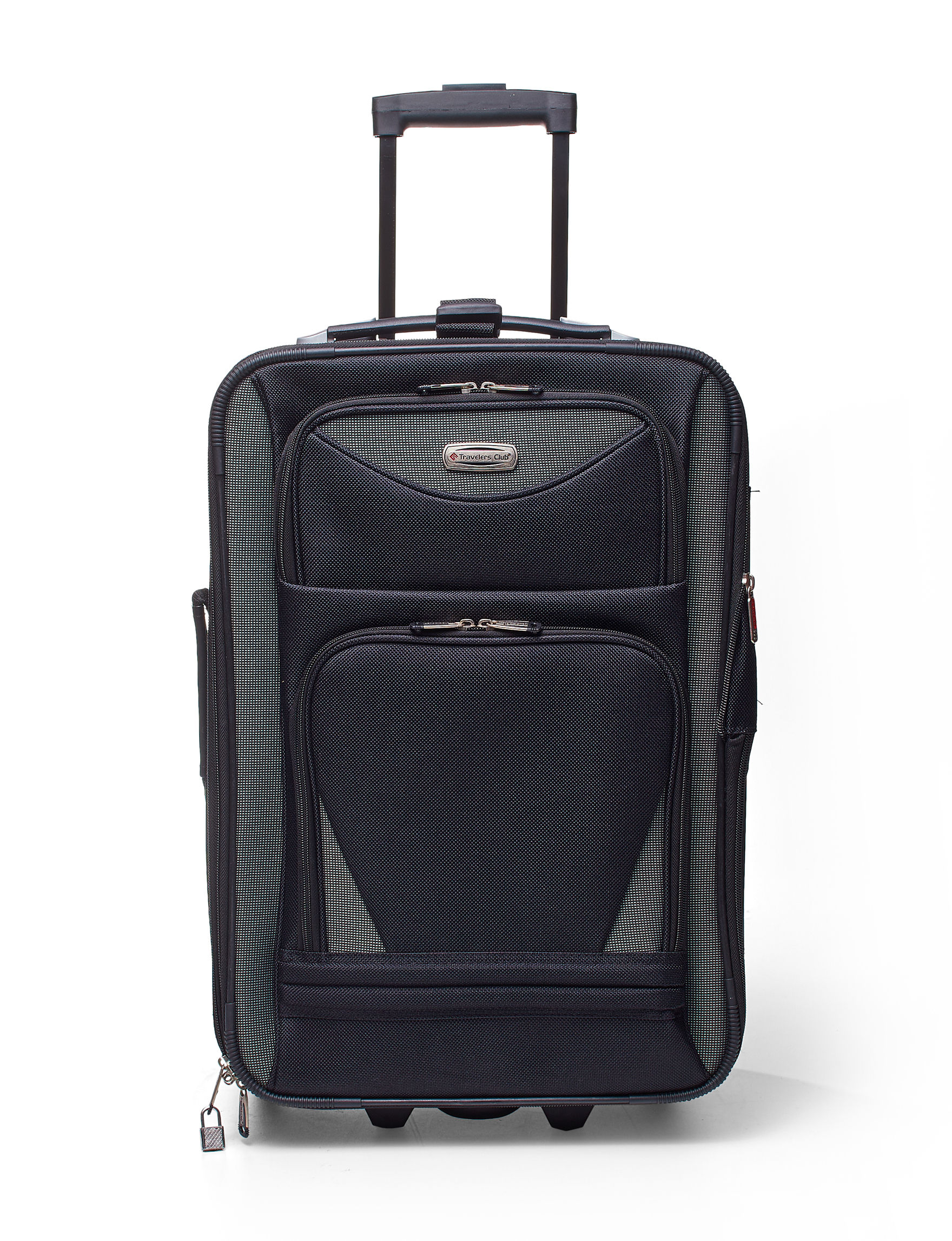 Travelers Club Luggage Black Upright Spinners