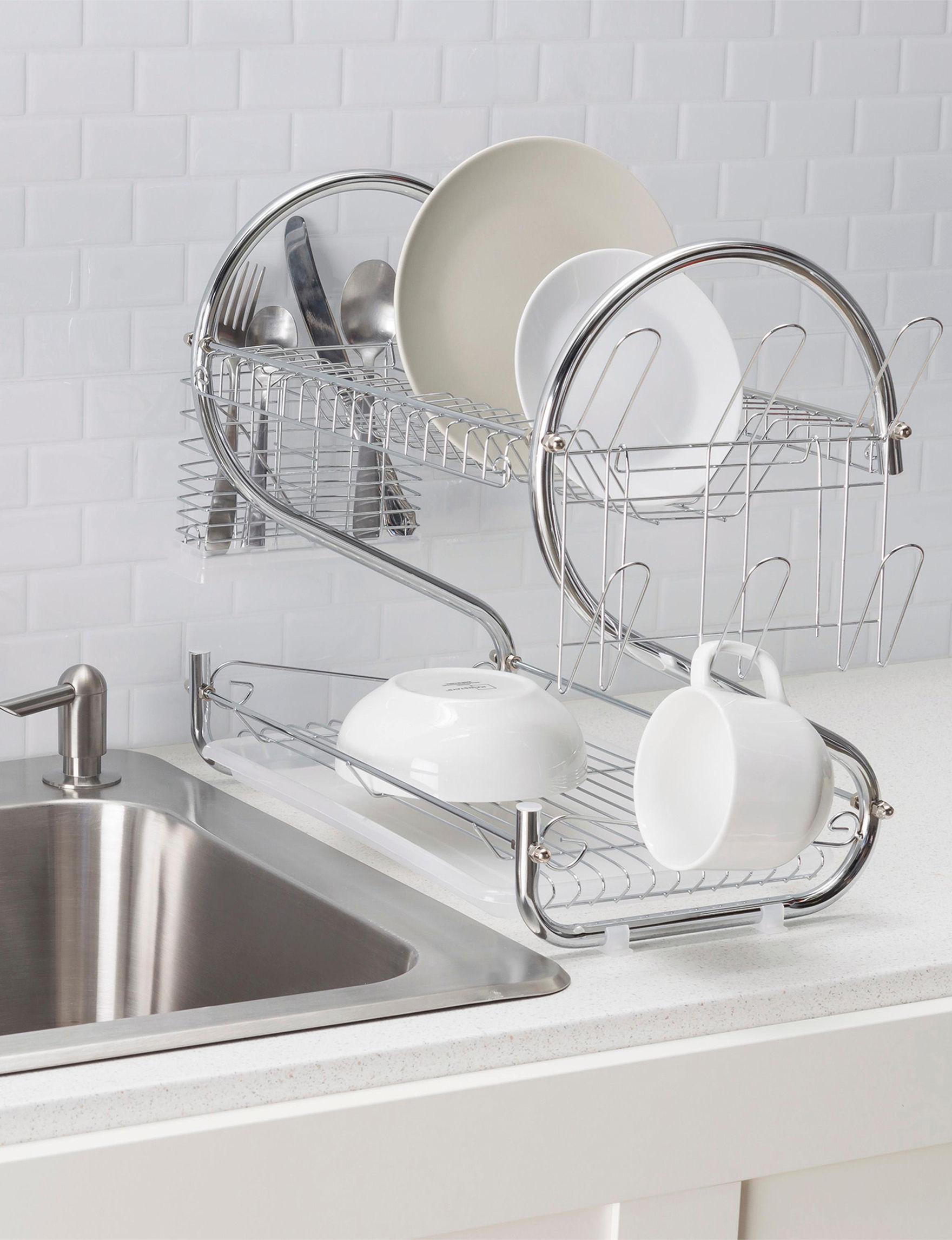 Home Basics Chrome Kitchen Storage & Organization