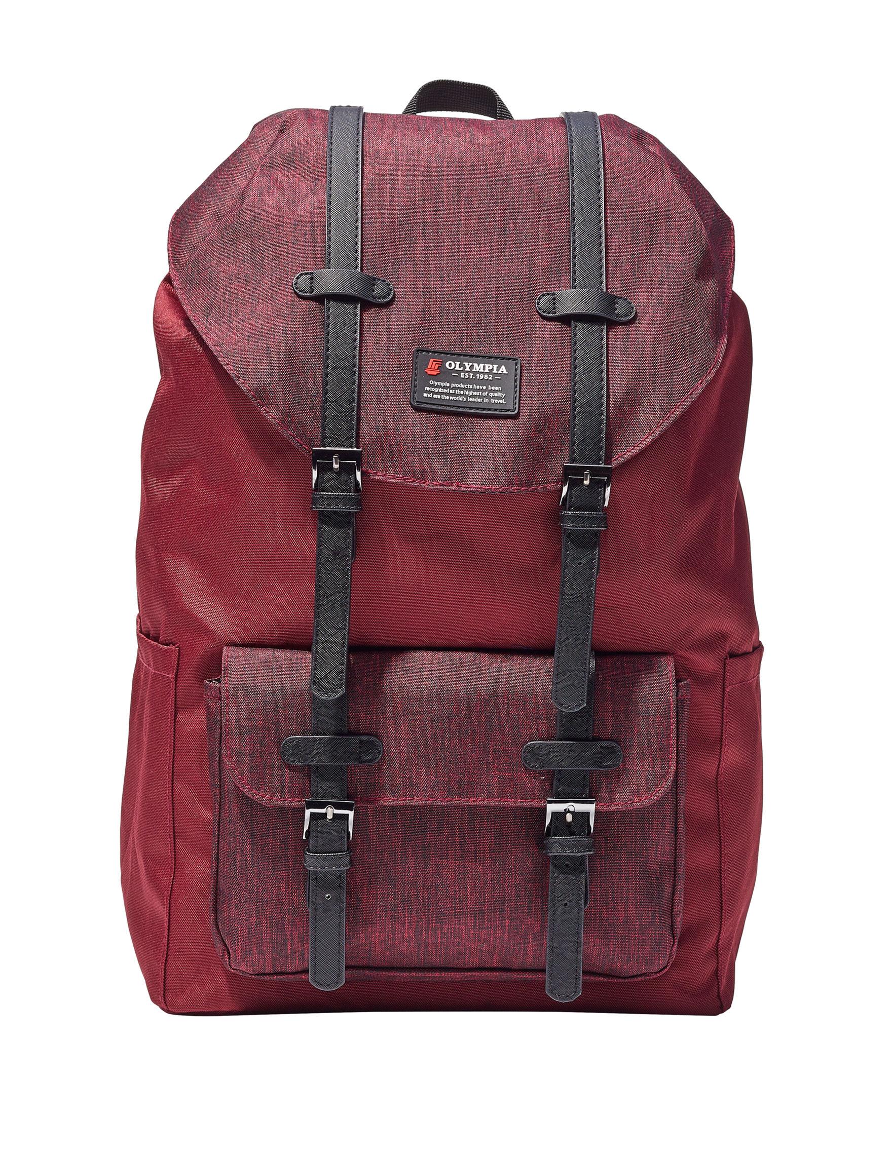 Olympia Dark Red Bookbags & Backpacks