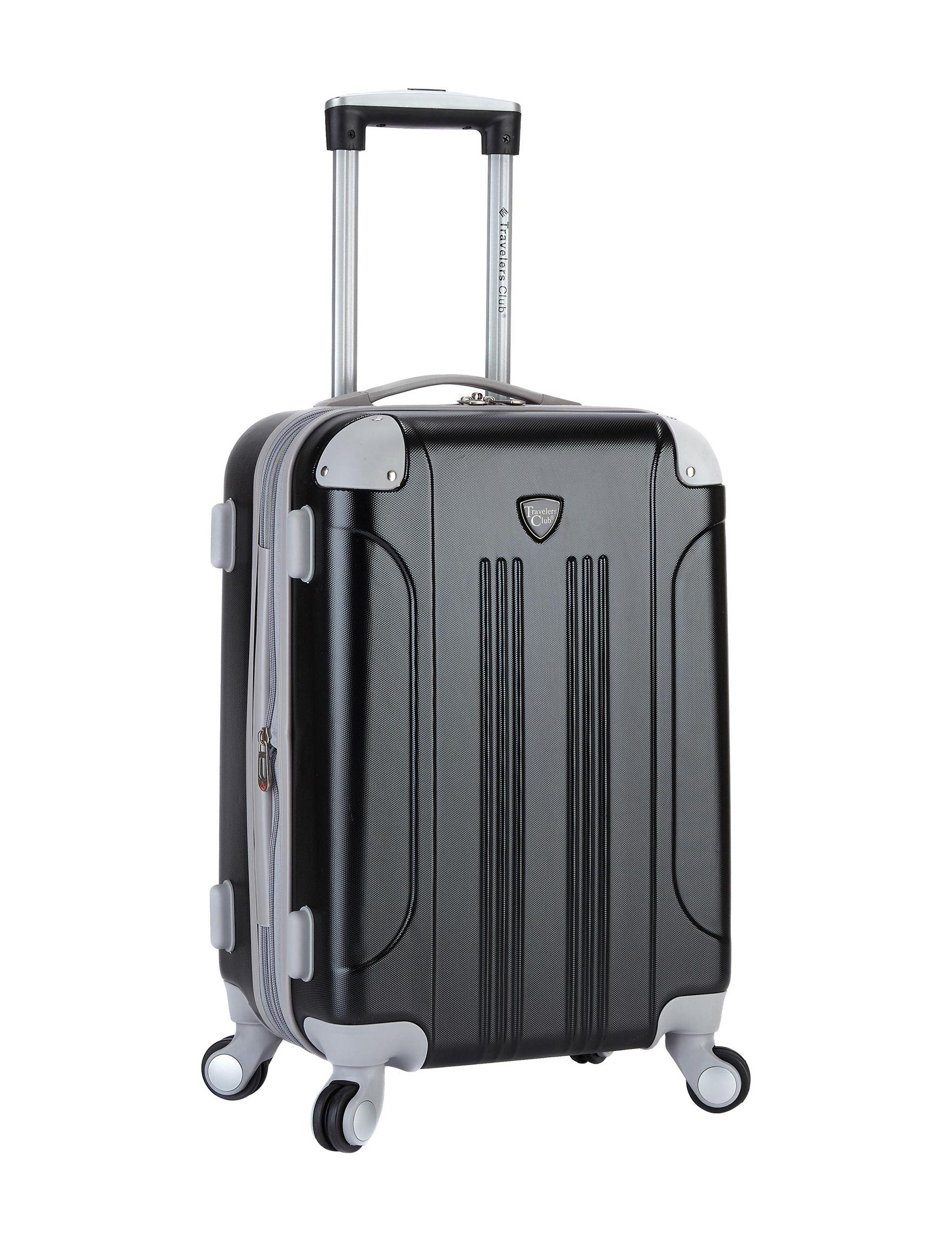 Travelers Club Luggage Black Hardside Upright Spinners