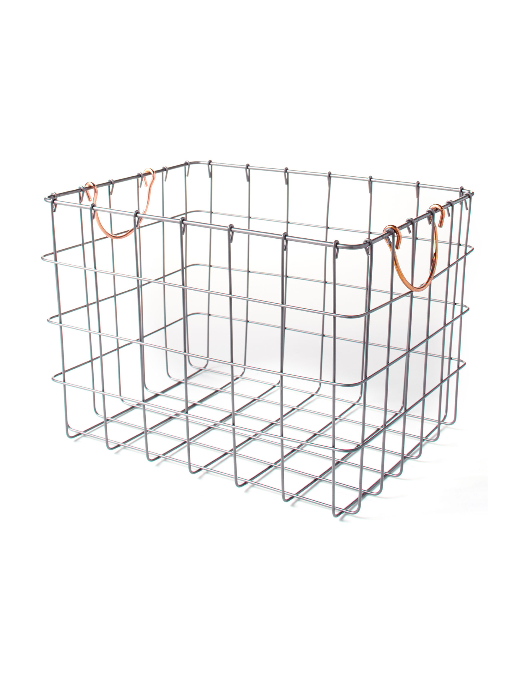 Enchante Grey Baskets Home Accents