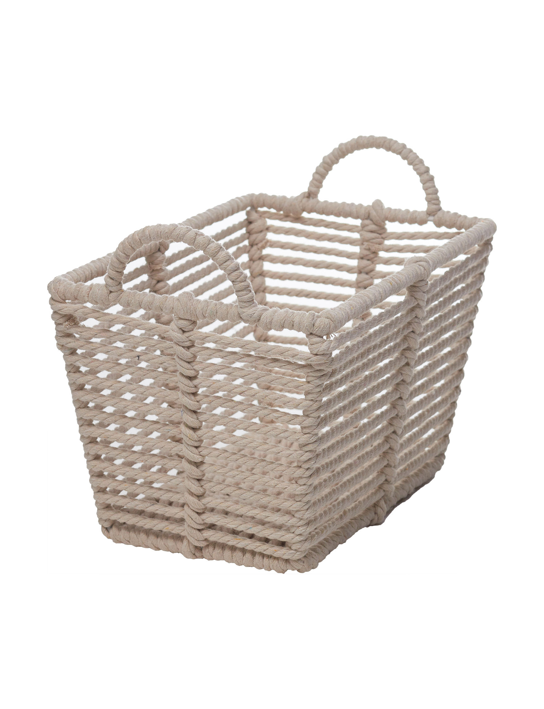 Enchante White Baskets Home Accents Storage & Organization