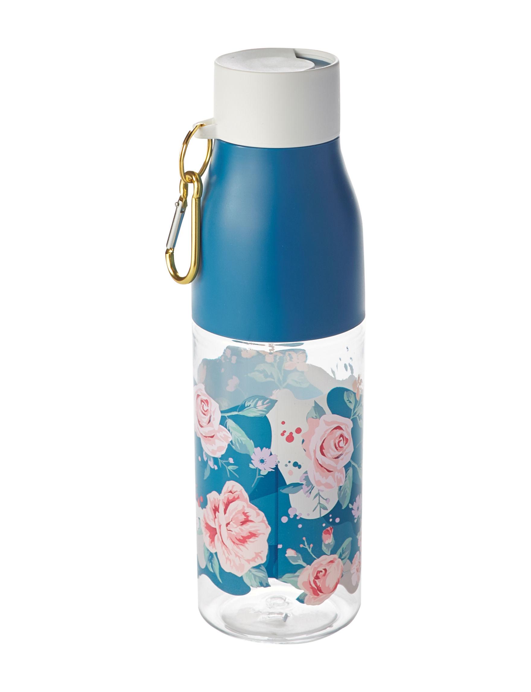 Tri Coastal Blue Floral Tumblers Water Bottles Drinkware