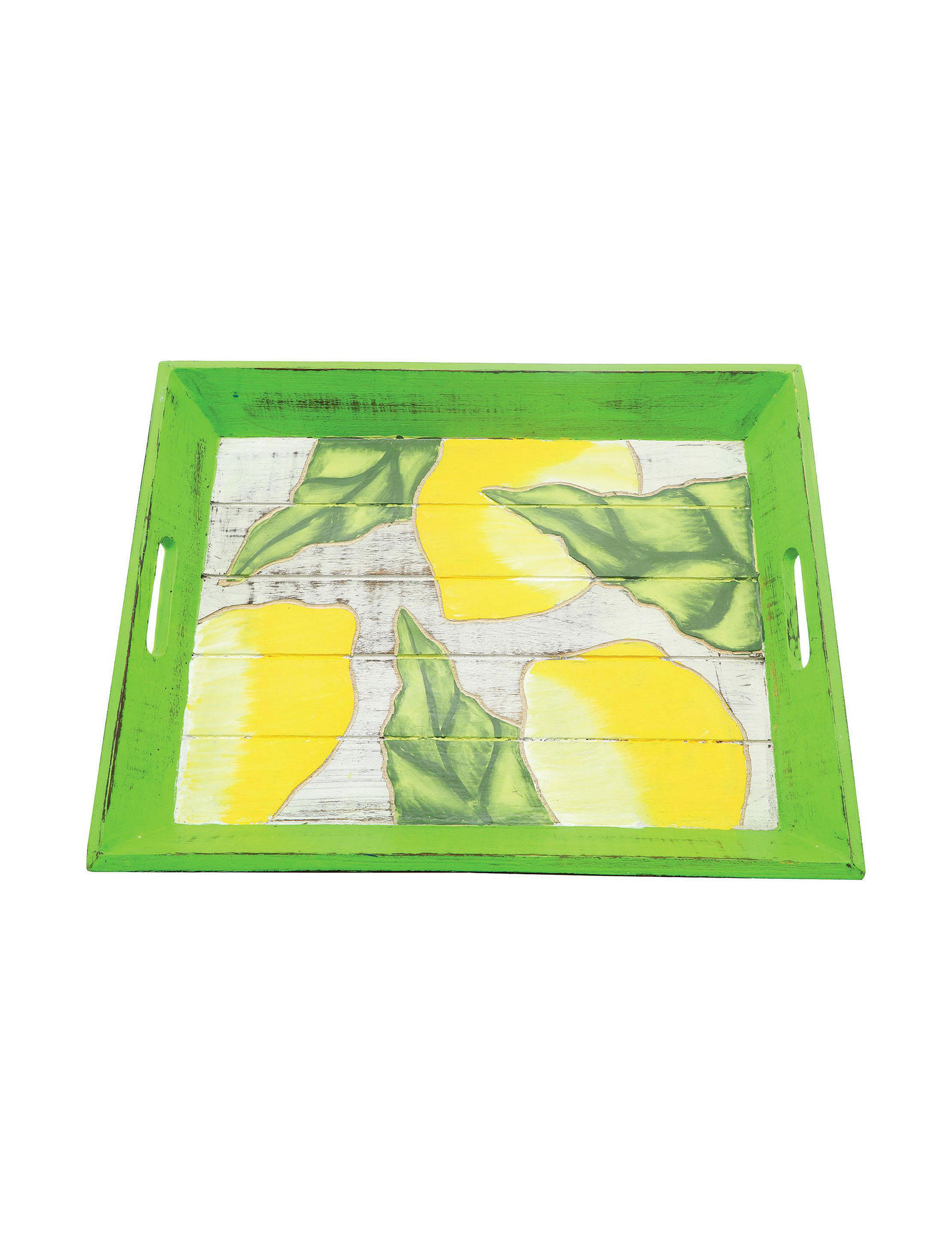 Dennis East Green / White Decorative Trays Home Accents