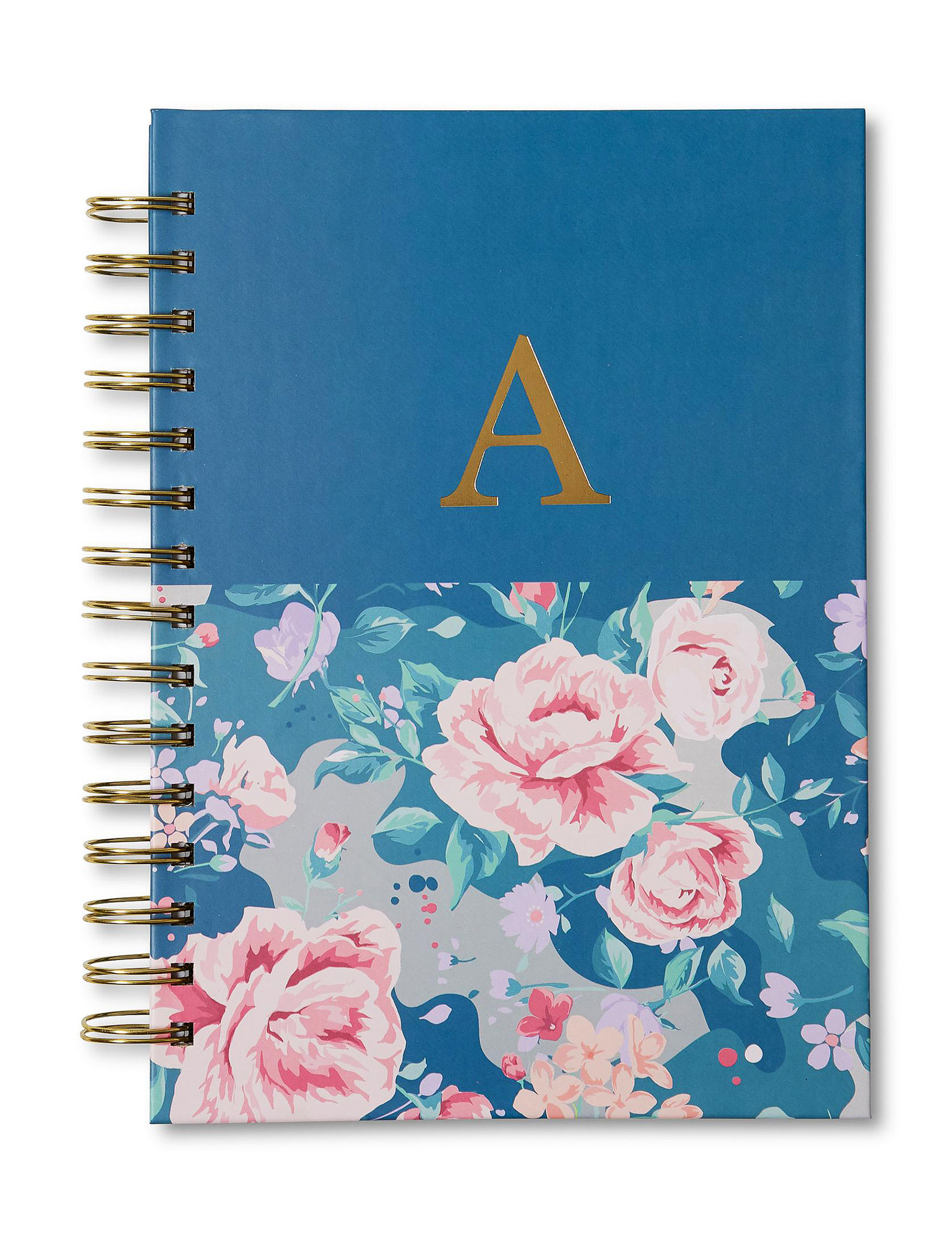 Tri Coastal Blue Floral Monogram School & Office Supplies