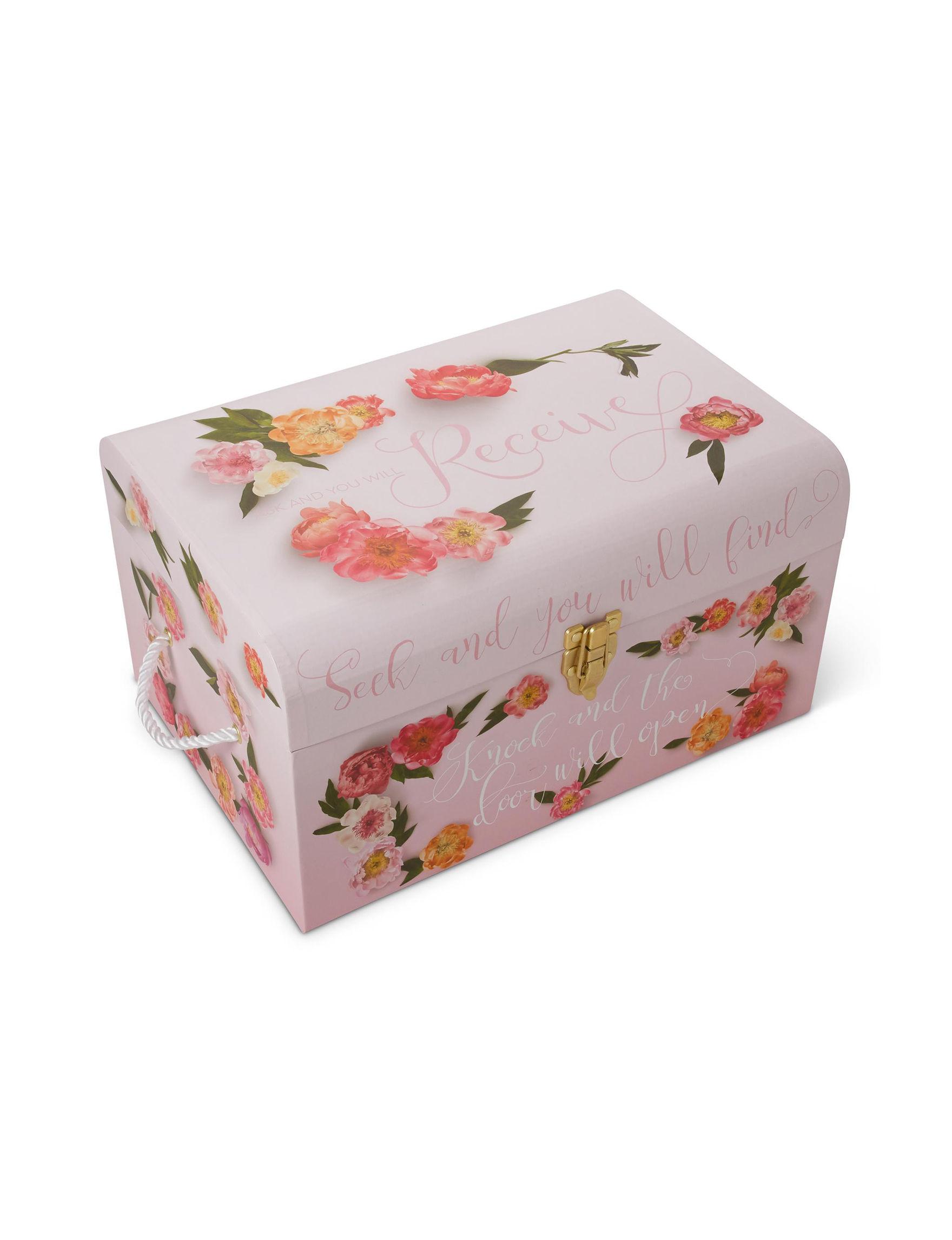 Tri Coastal Purple Floral Decorative Objects Storage & Organization