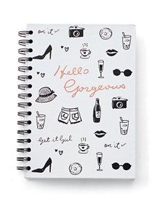 Tri Coastal White / Black Journals & Notepads School & Office Supplies