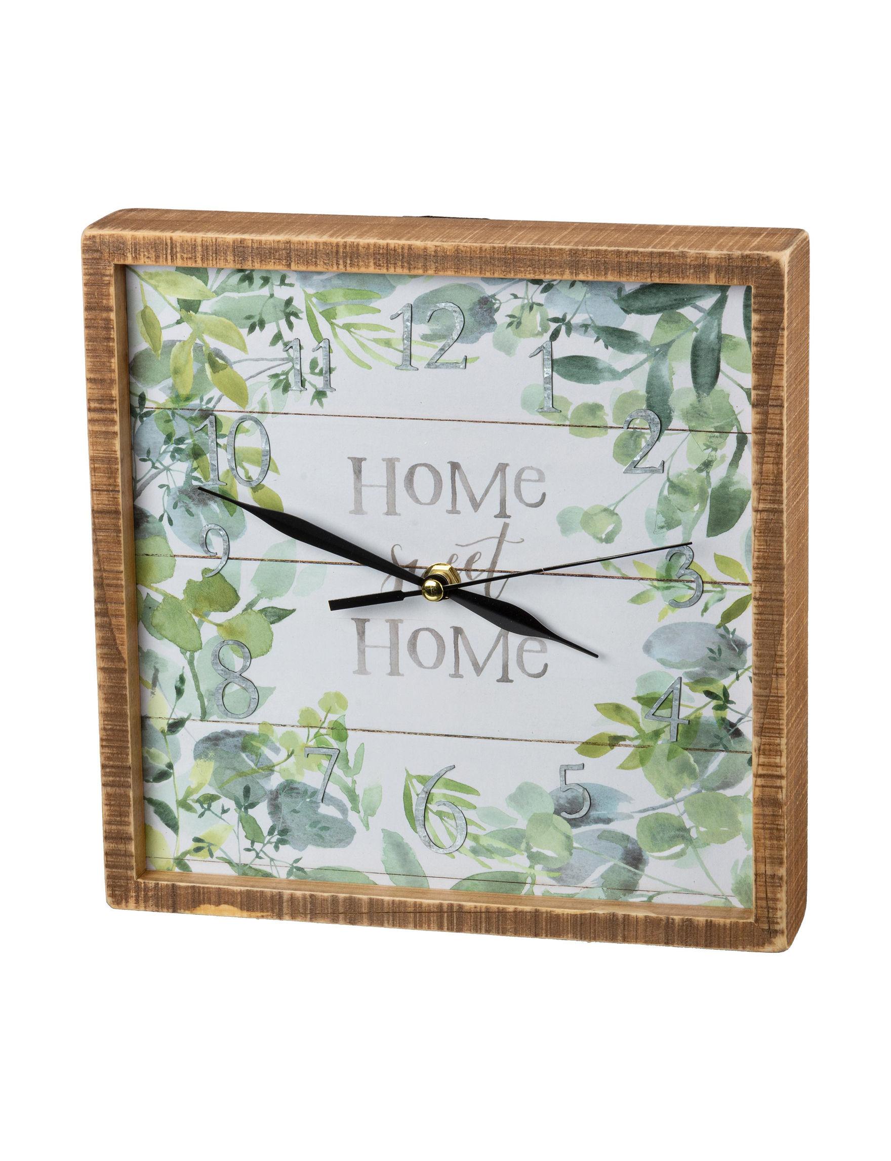 Primitives by Kathy White / Green Wall Clocks Wall Decor
