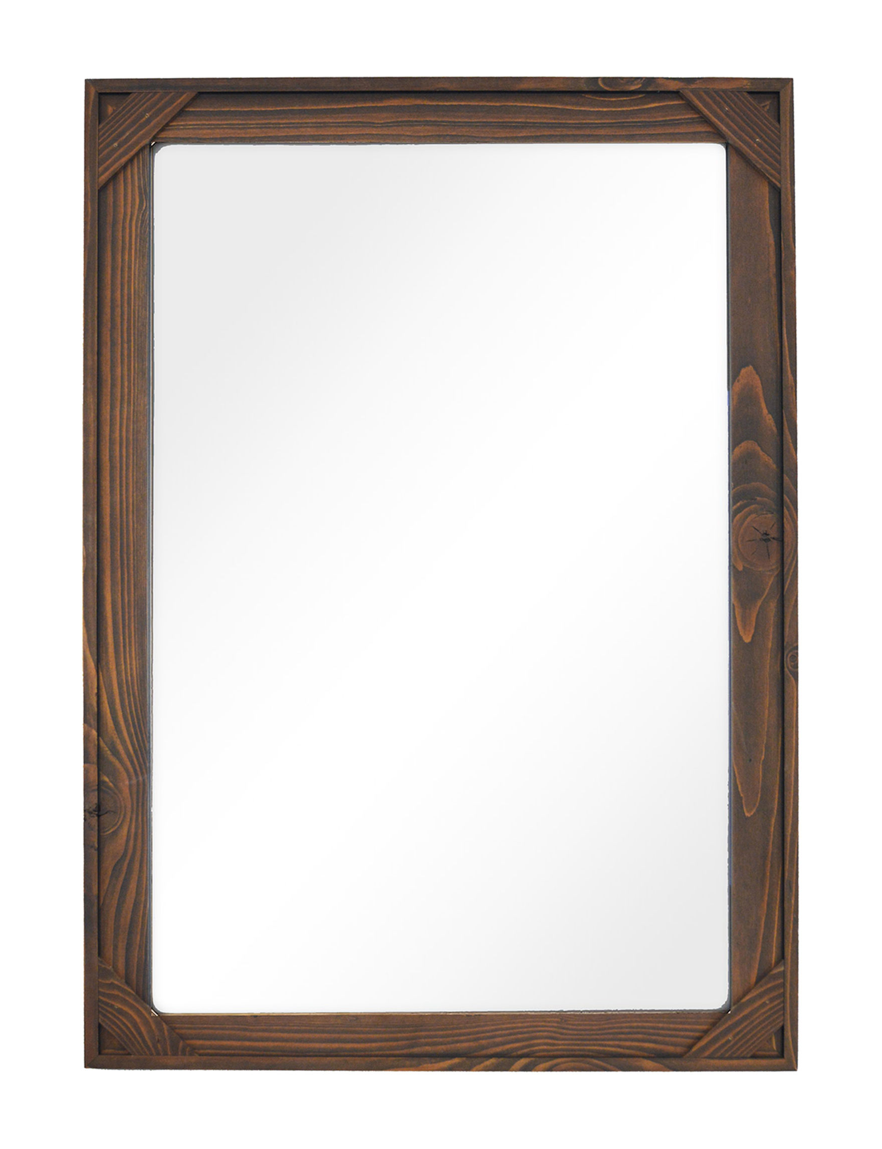 New View Brown Mirrors Wall Decor
