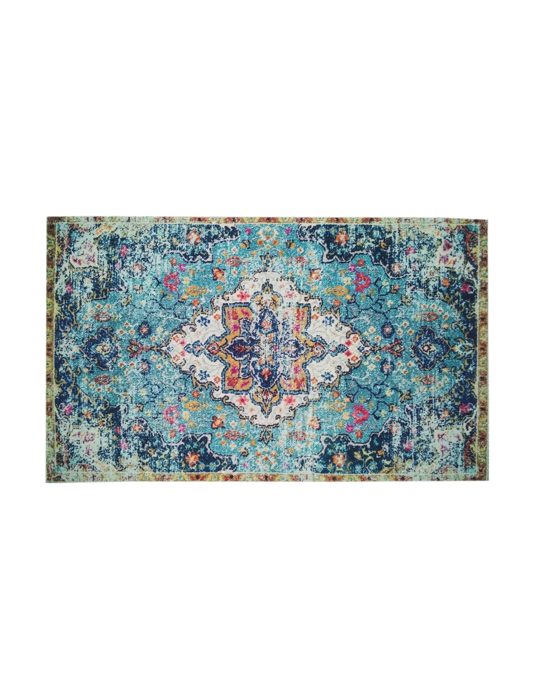 Direct Home Textiles Blue / Multi Accent Rugs Rugs