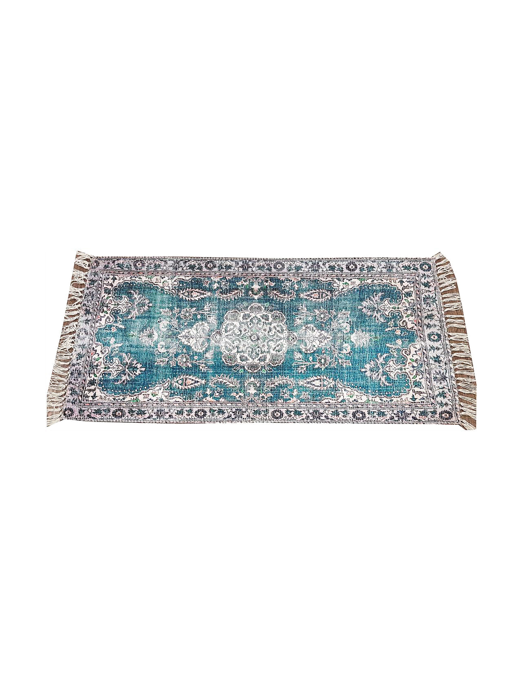 Direct Home Tex. Blue / Multi Accent Rugs Rugs