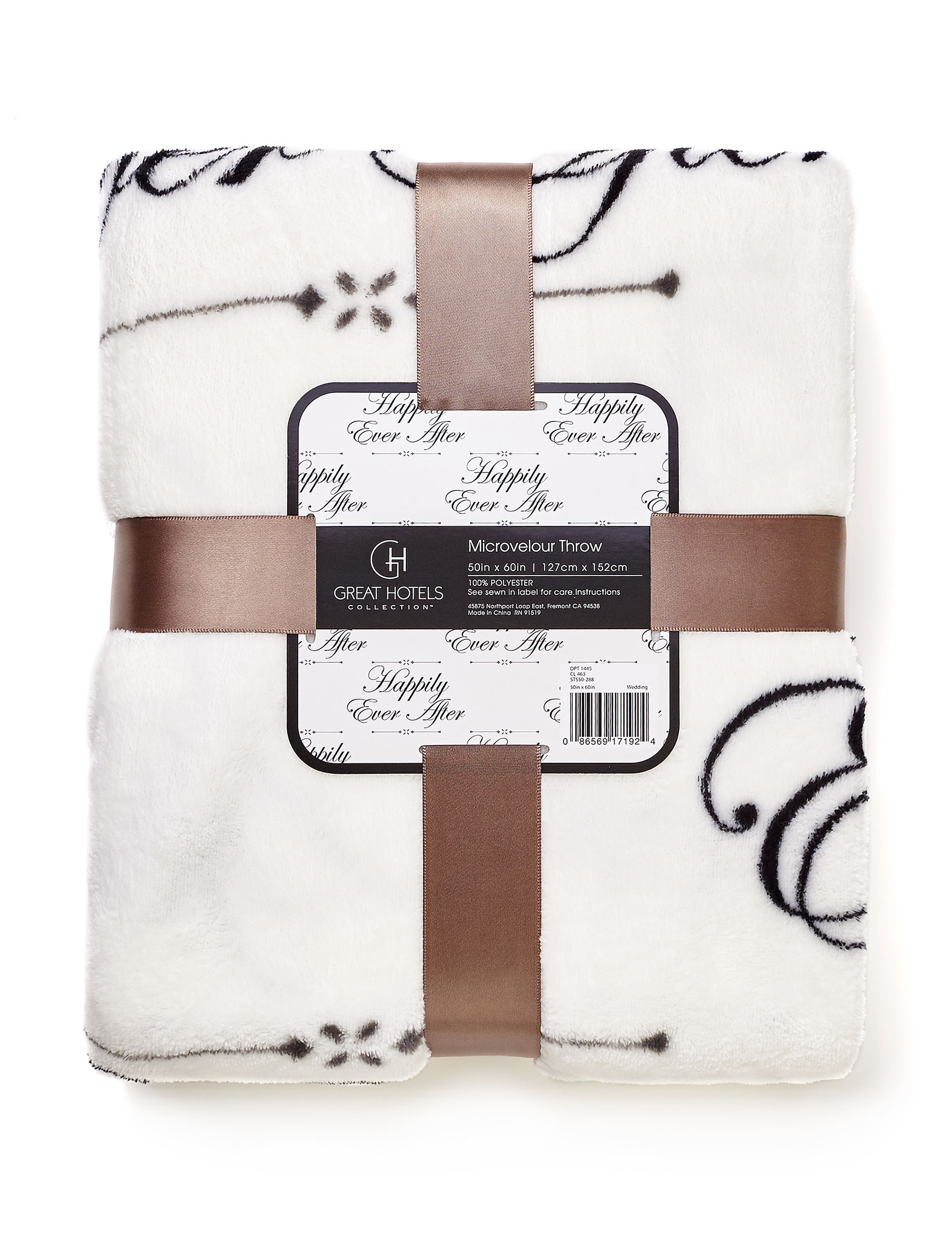 Great Hotels Collection White / Grey / Black Blankets & Throws