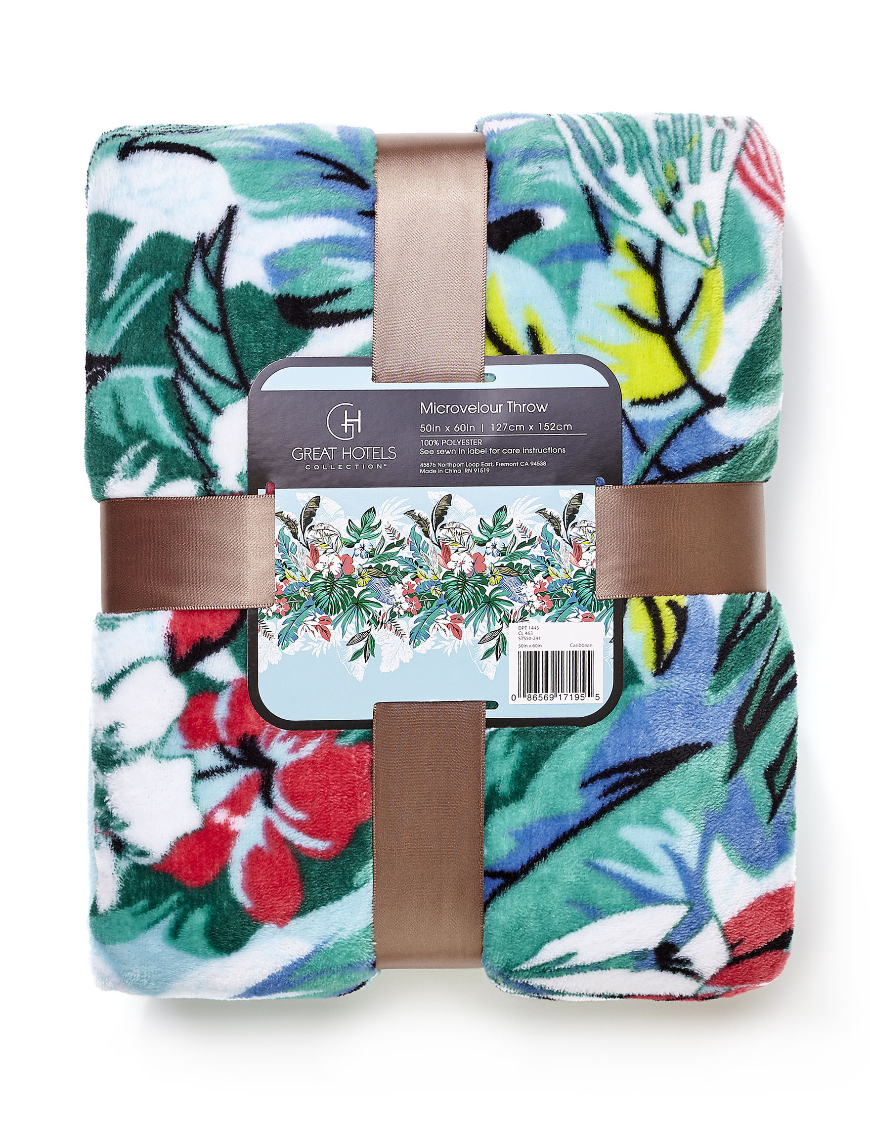 Great Hotels Collection Aqua Floral Blankets & Throws
