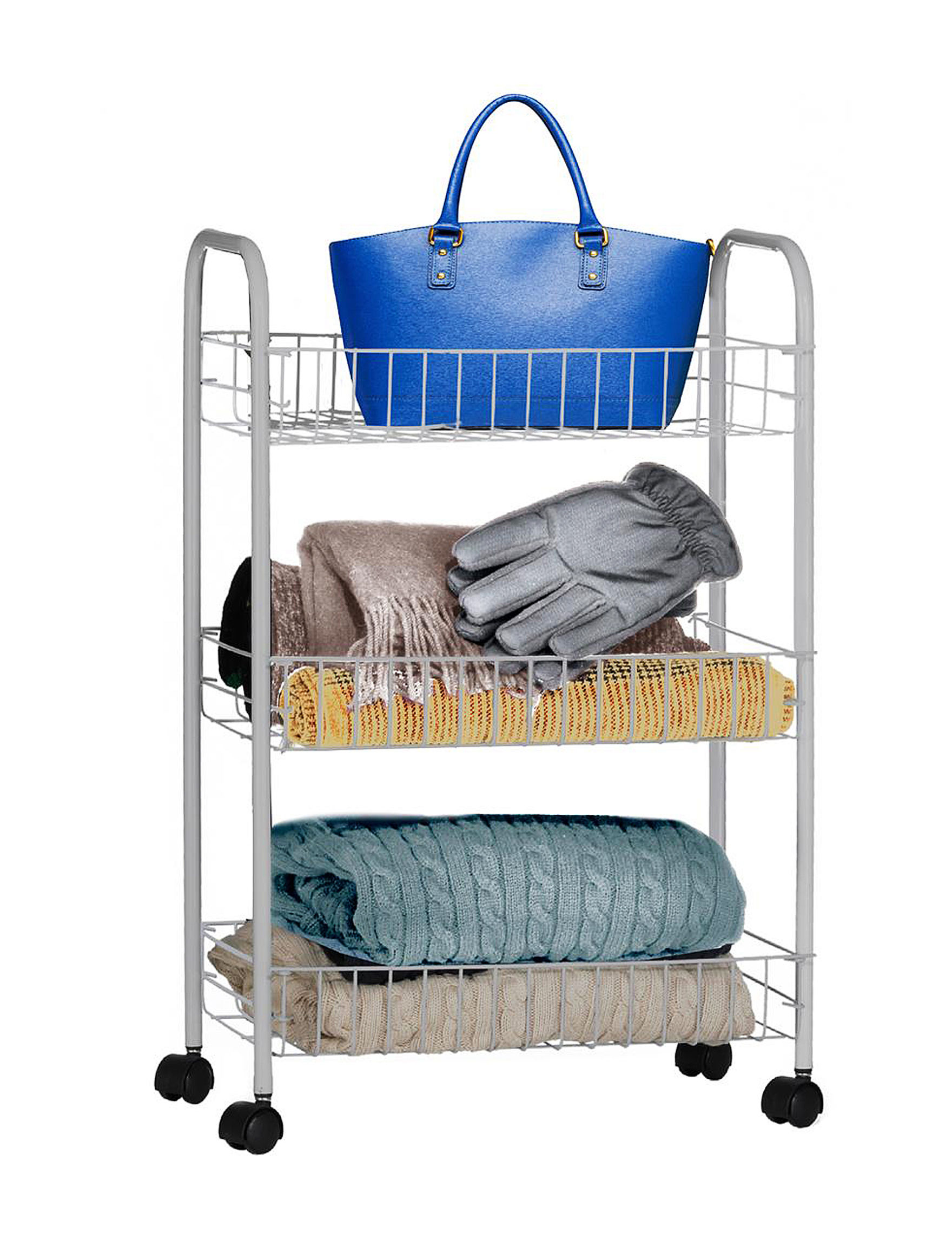 Farberware Grey 3 Tier Rolling Storage Cart Closeout Stage Stores