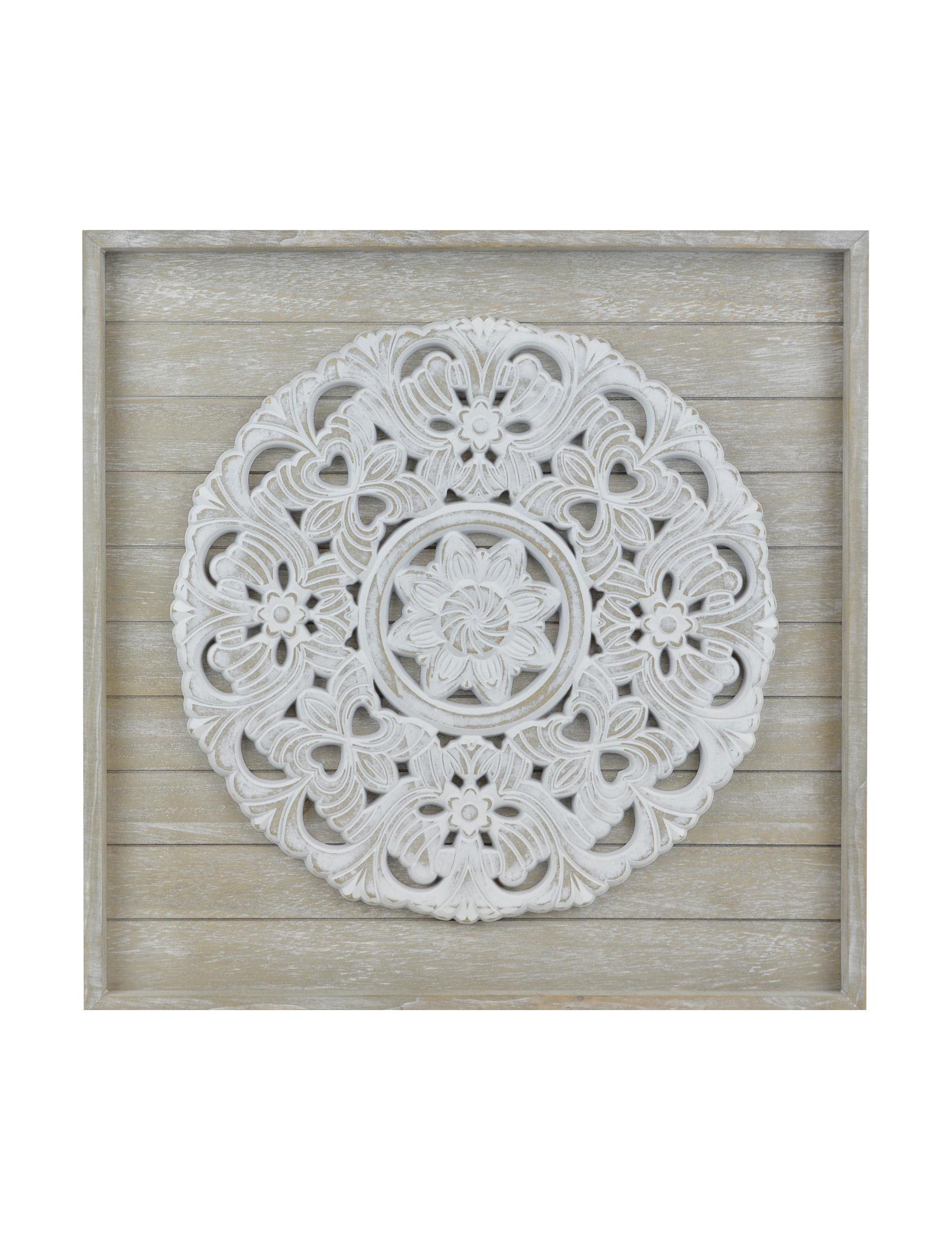 Enchante Grey / White Wall Art Wall Decor