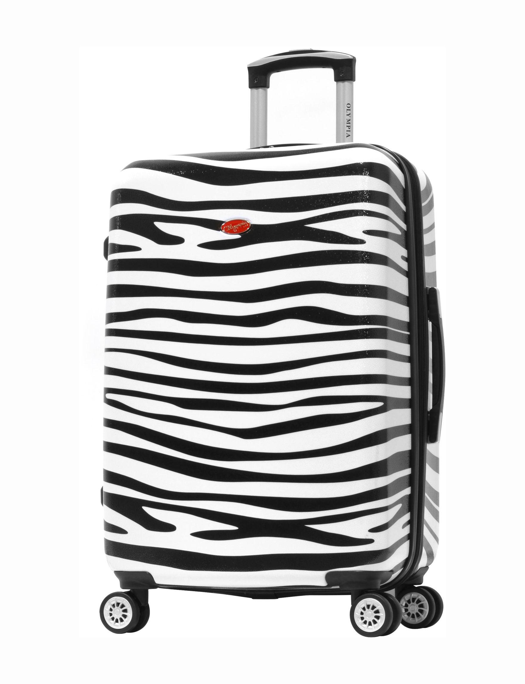 Olympia Zebra Hardside Luggage Sets Upright Spinners