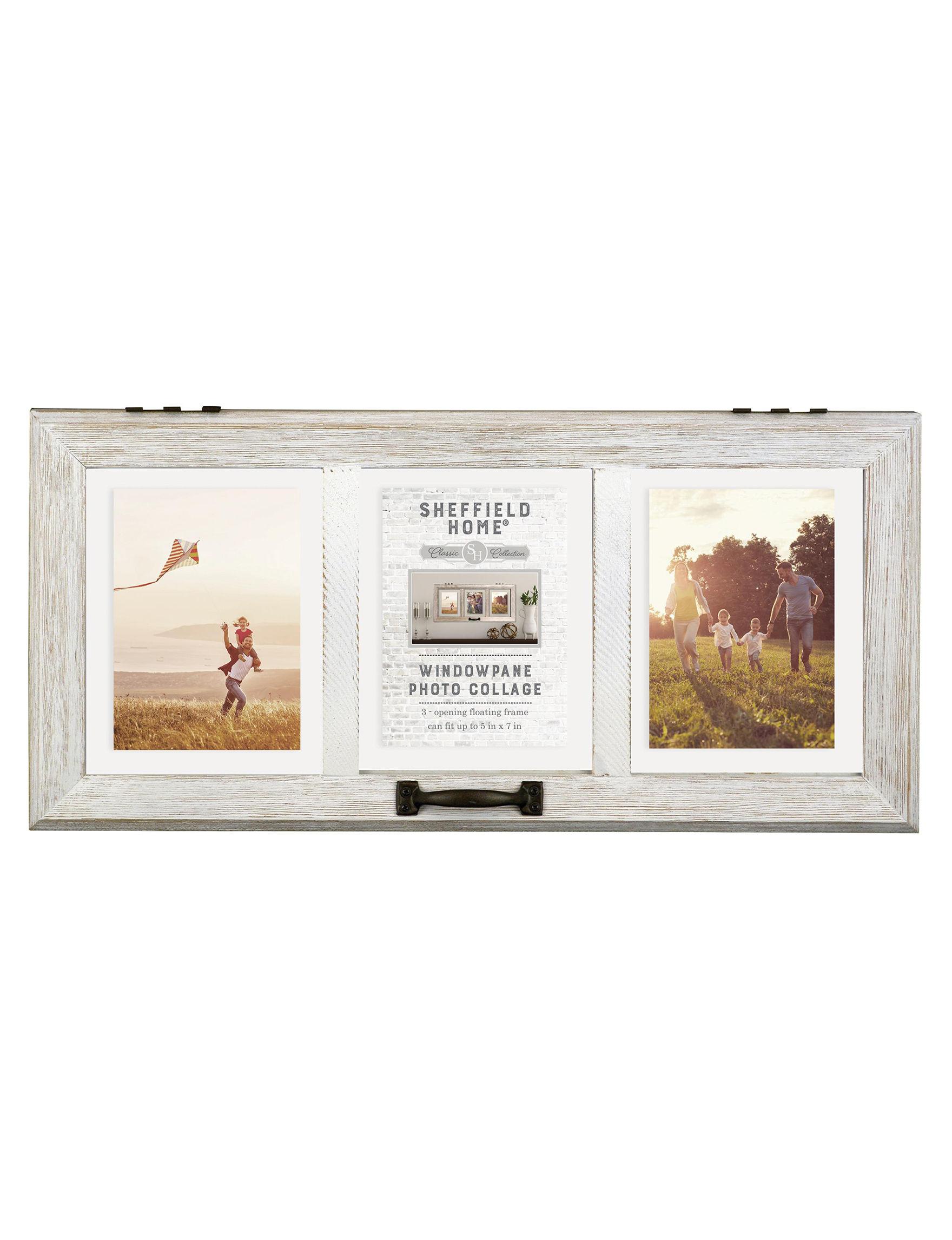 Enchante White Multi Frames & Shadow Boxes Wall Decor