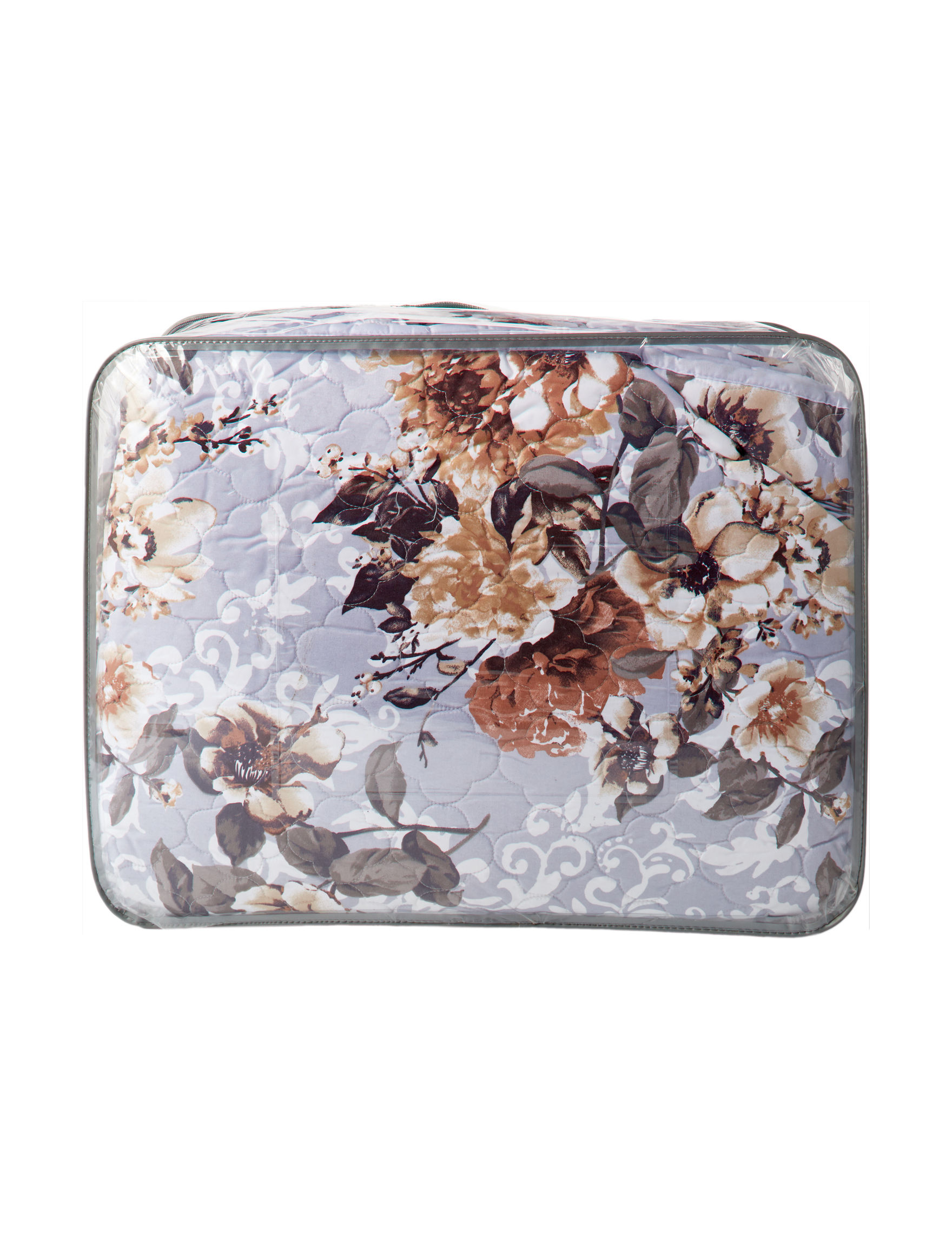 Jessica Sanders Grey Floral Quilts & Quilt Sets