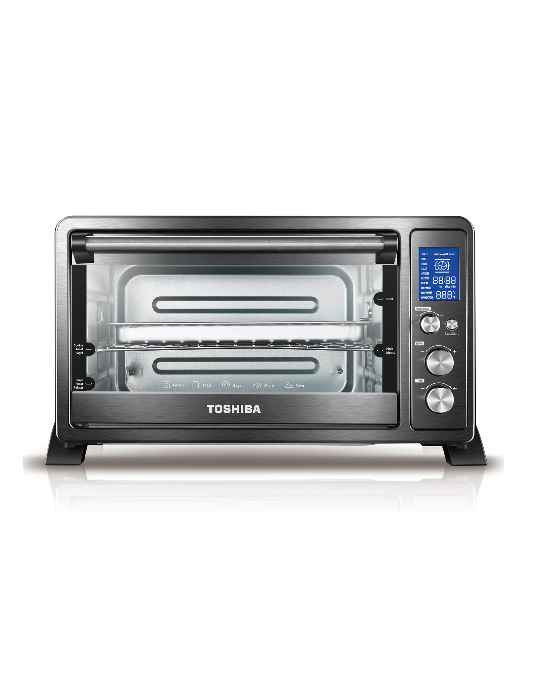 Toshiba Stainless Steel 6-Slice Digital Convection Toaster Oven - Black - Toshiba