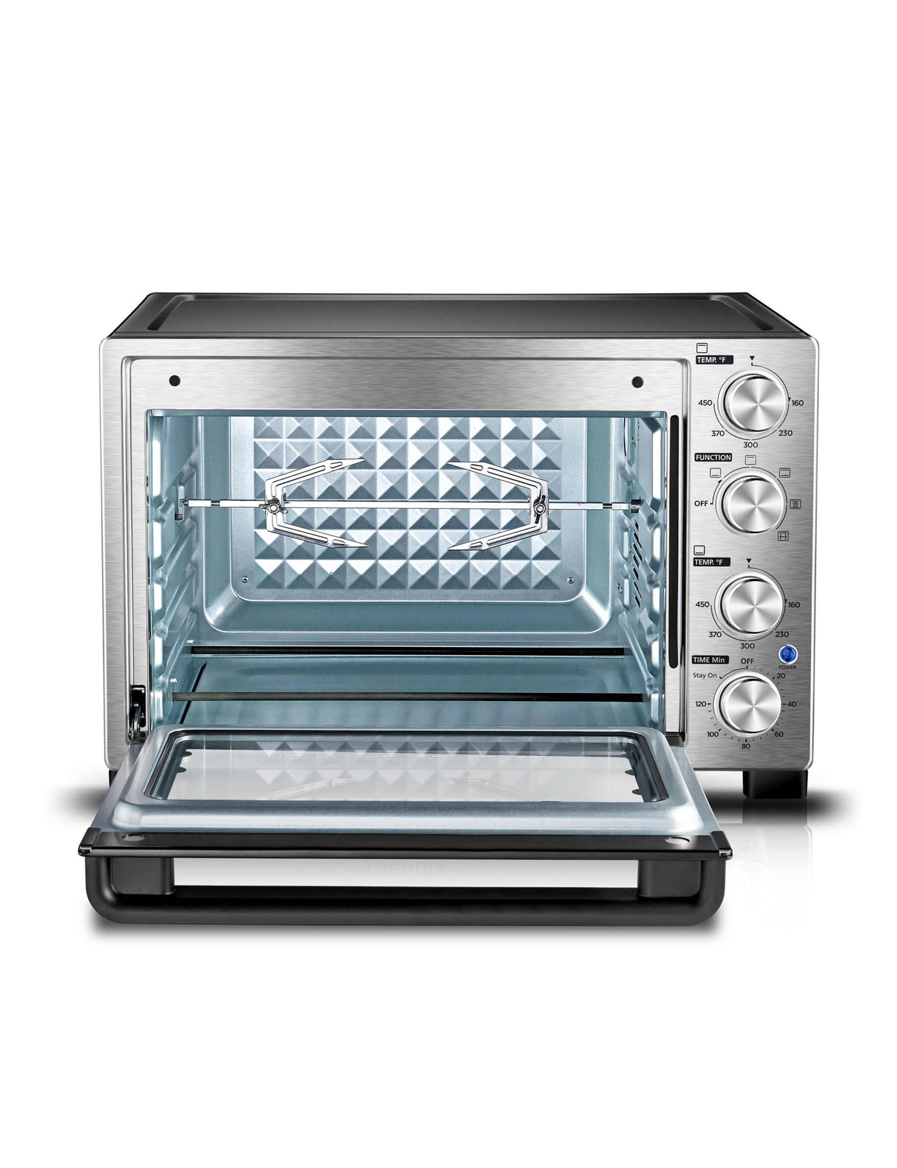 Toshiba Stainless Steel Convection Toaster Oven - Silver - Toshiba