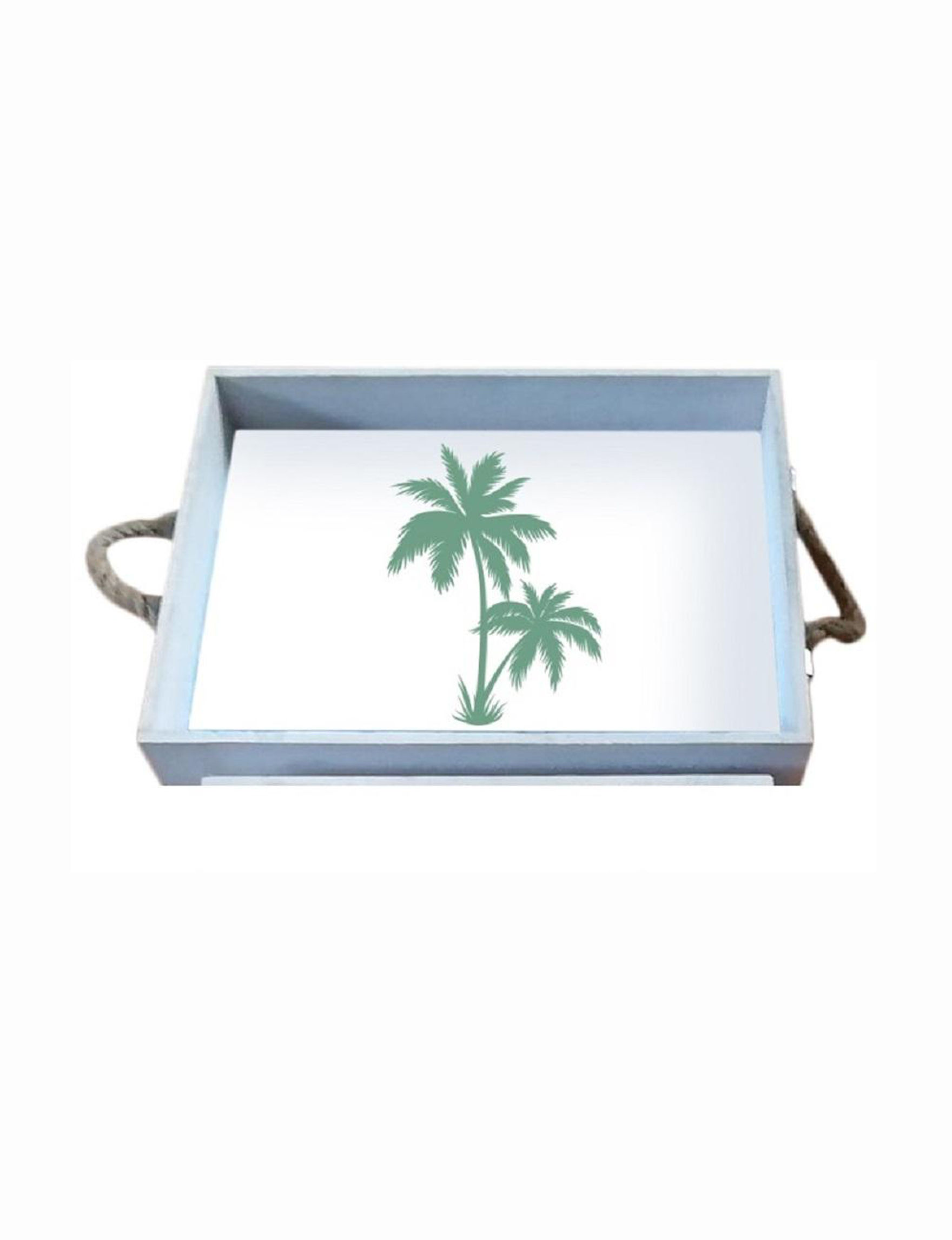 Fancy That Gift White / Green Decorative Trays Serveware