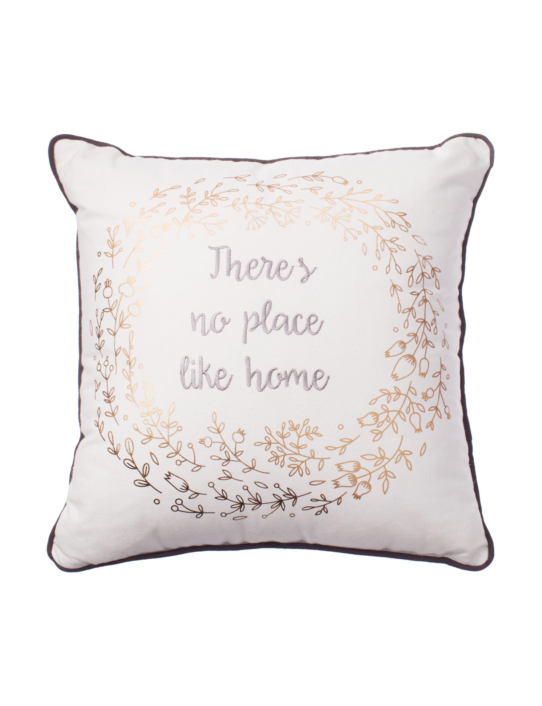Deco White / Gold Decorative Pillows