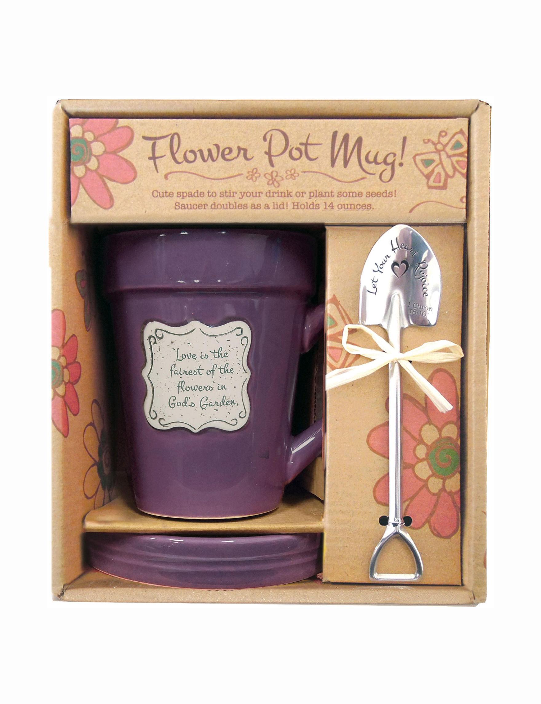 Divinity Purple Garden Decor & Planters Mugs Drinkware Outdoor Decor