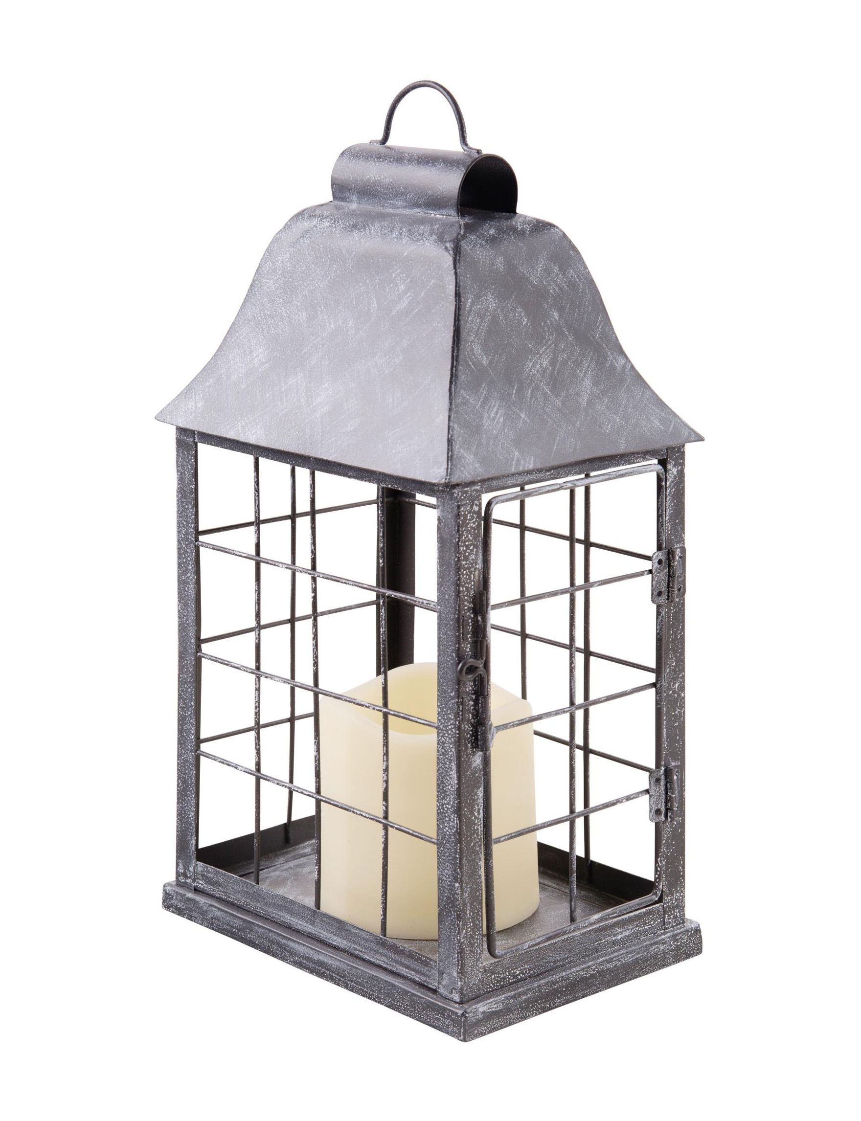 Home Essentials Grey Candle Holders Lights & Lanterns Lighting & Lamps