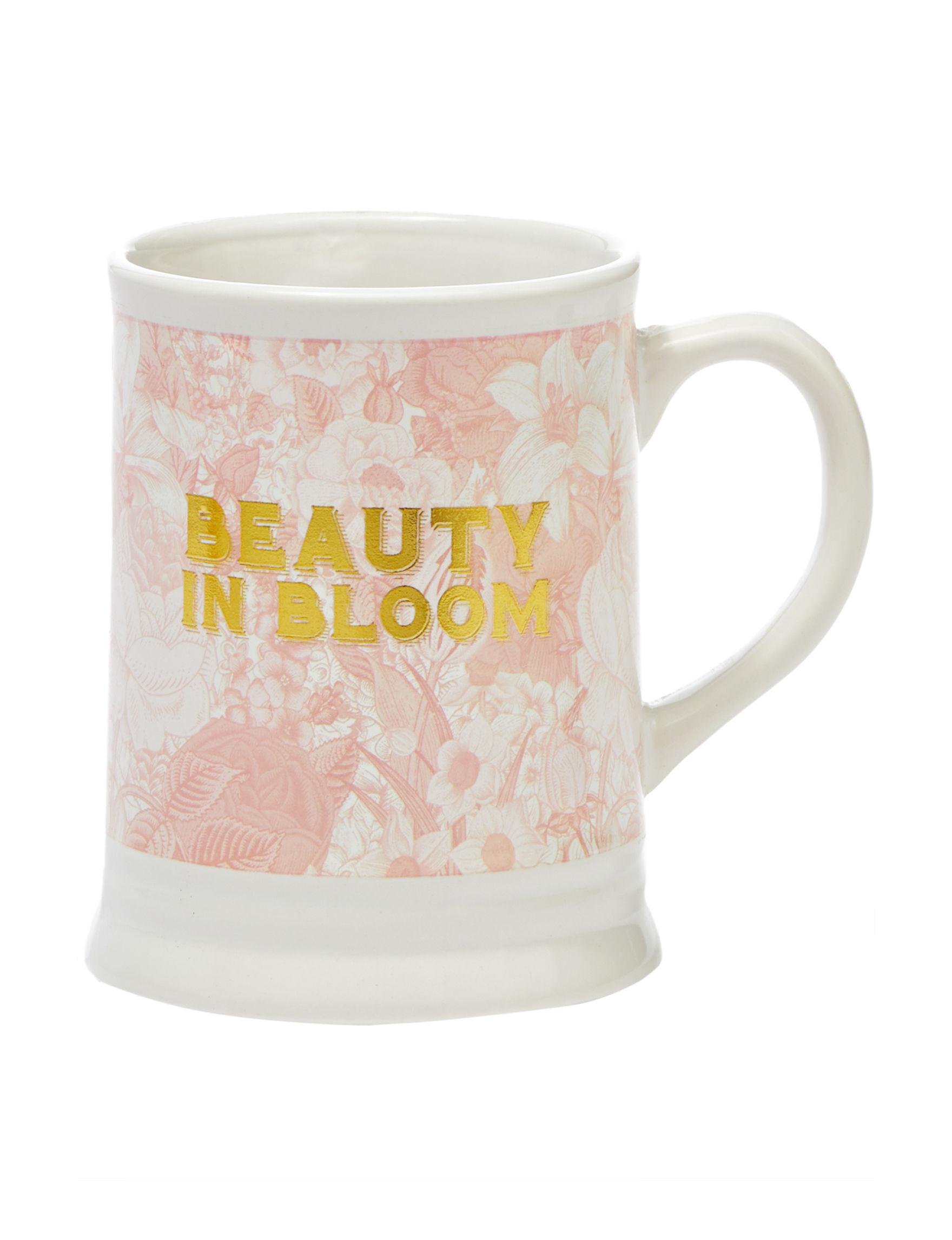 TMD Holdings White / Pink Mugs Drinkware