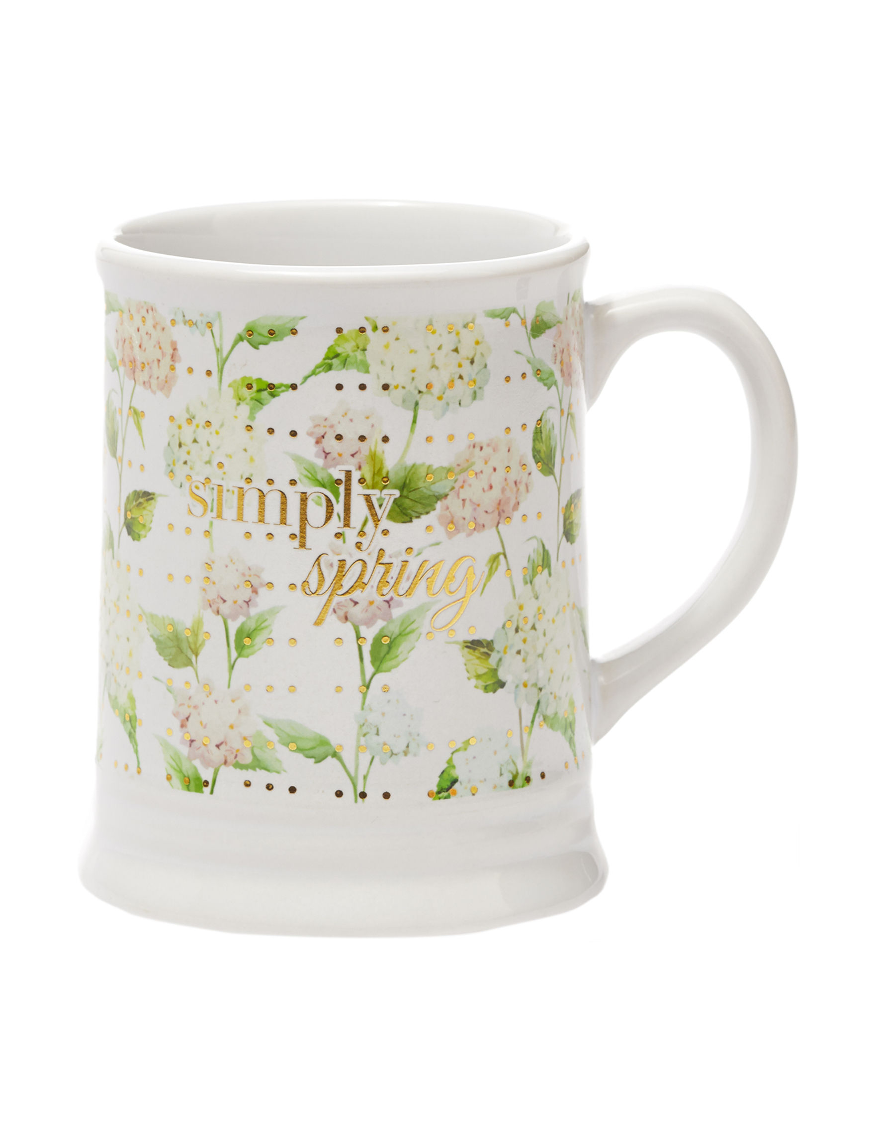 TMD Holdings White Multi Mugs Drinkware