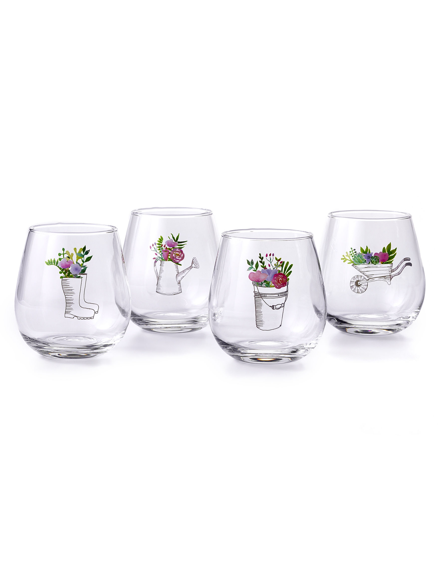 TMD Holdings Clear Wine Glasses Drinkware