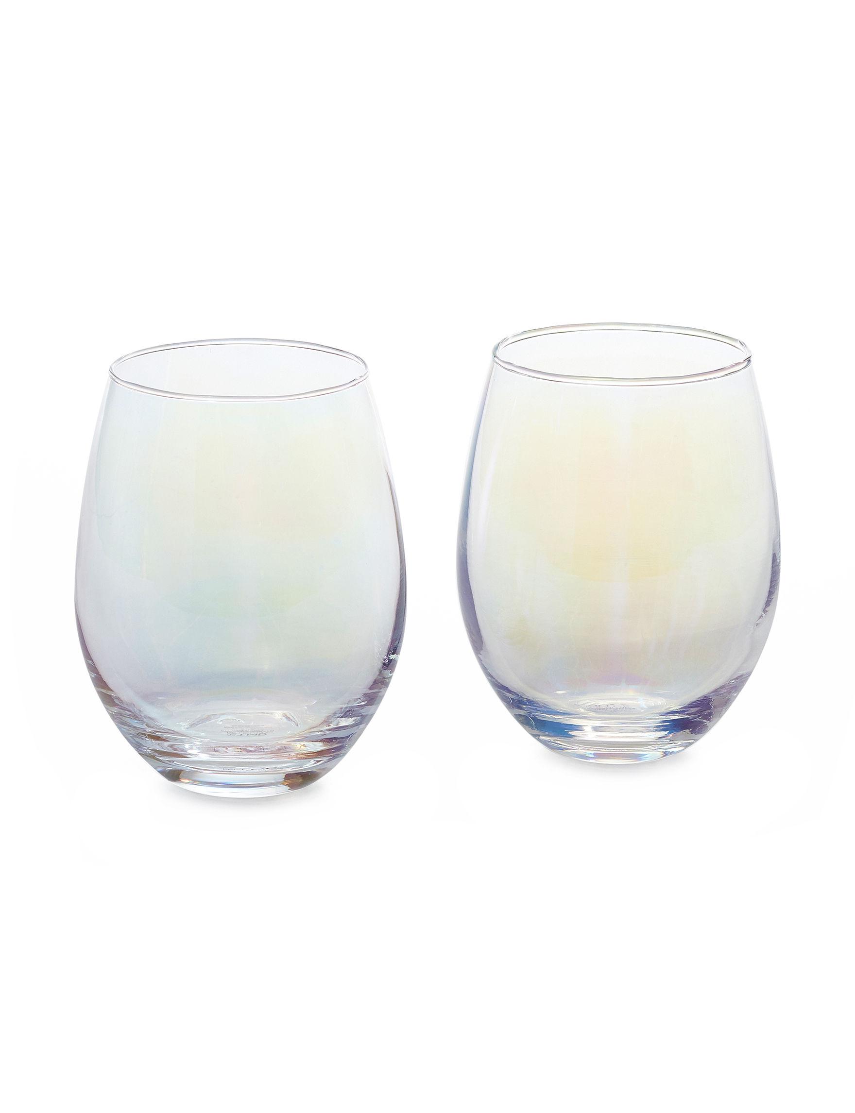 TMD Holdings Purple Multi Wine Glasses Drinkware