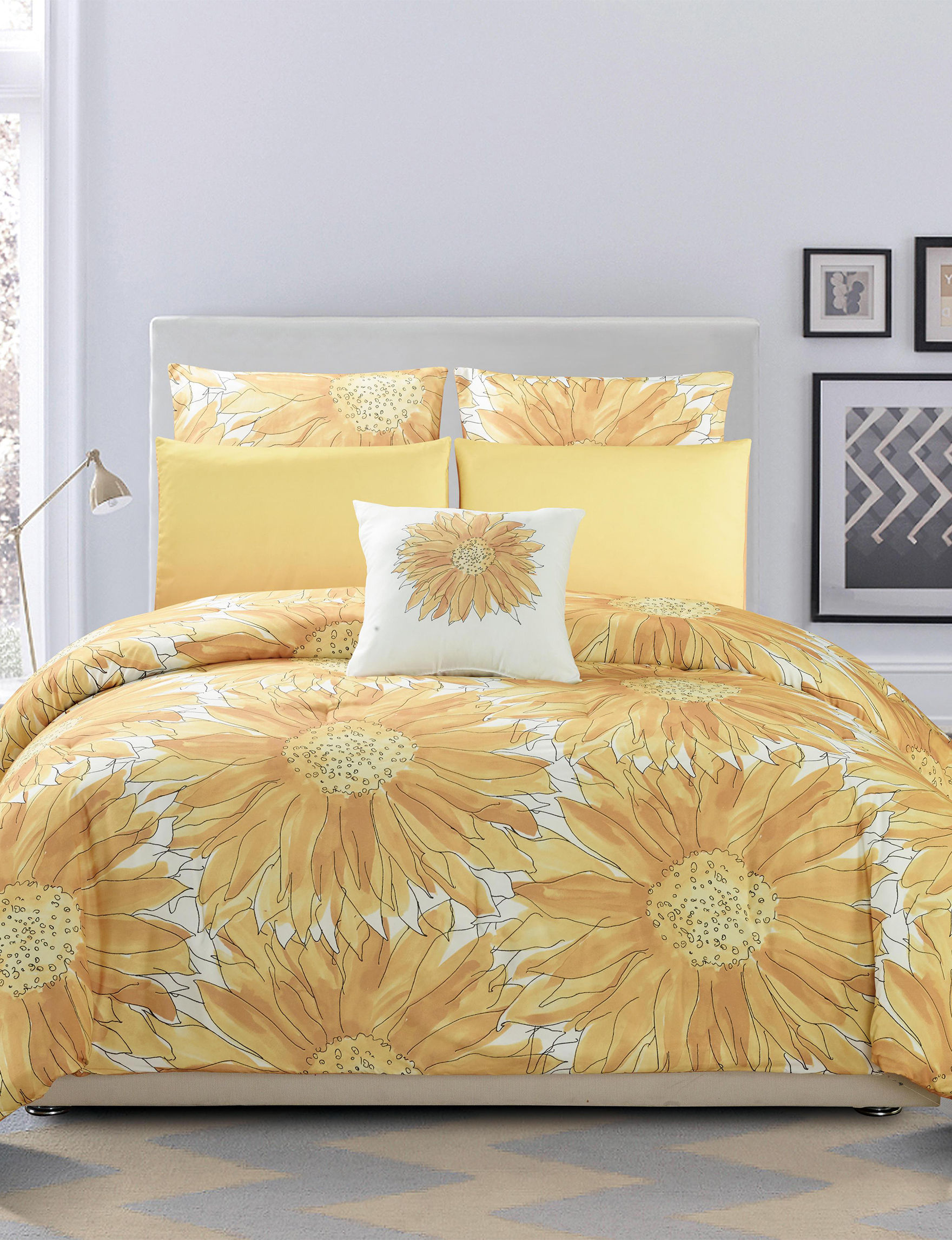 Kensie Yellow Comforters & Comforter Sets