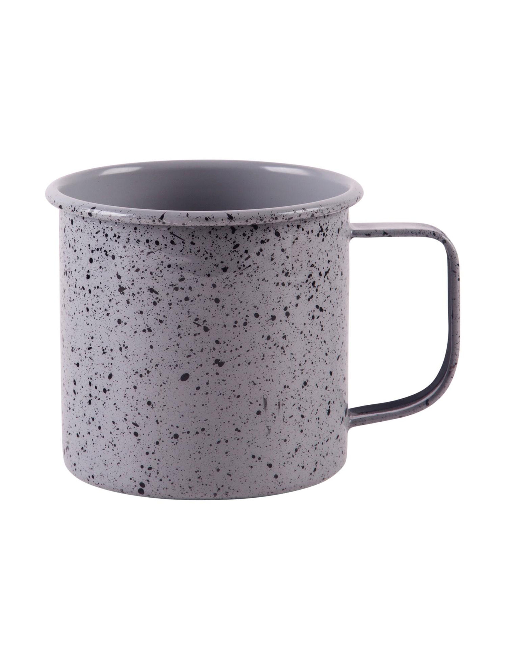 Home Essentials Grey / Black Mugs Drinkware