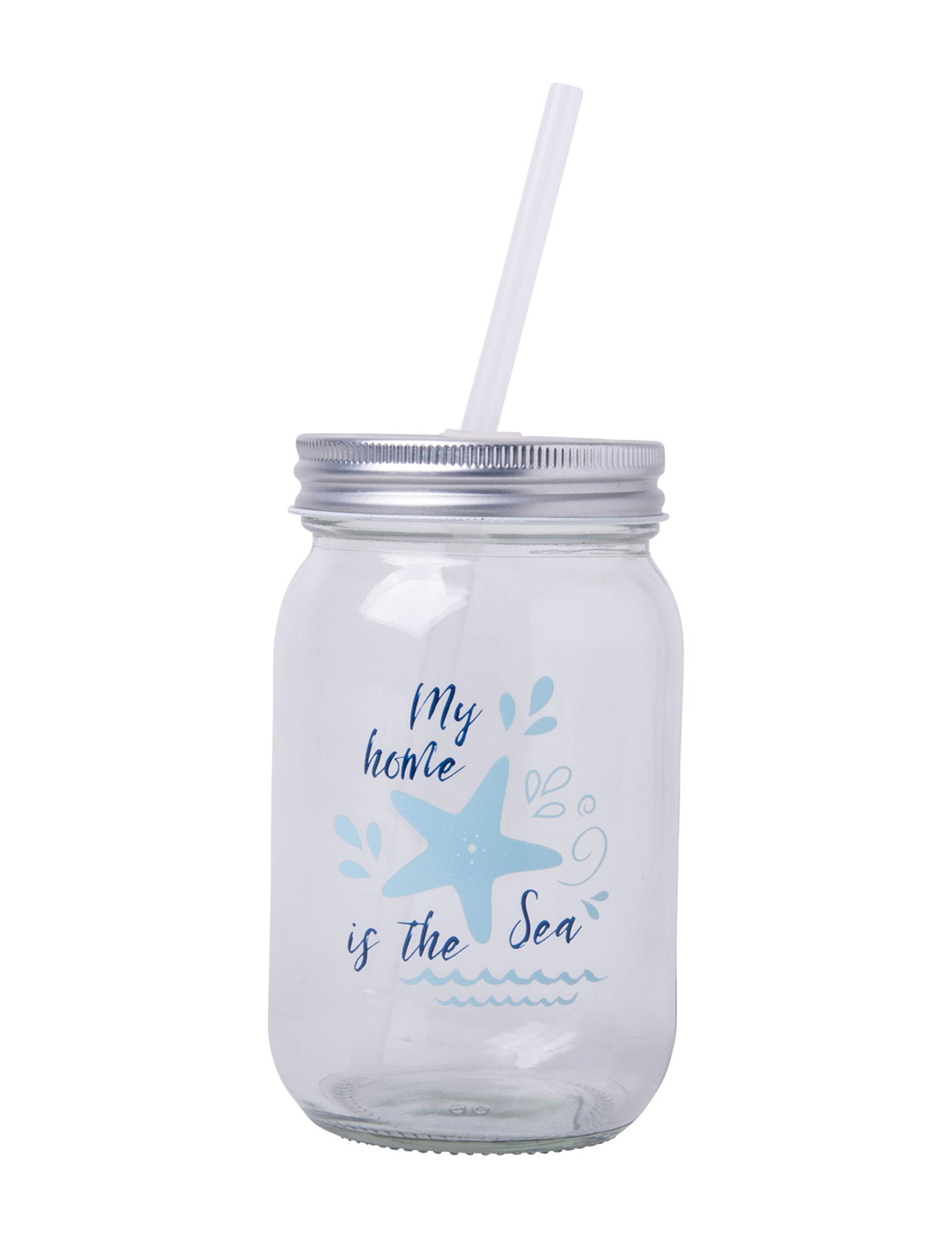 Home Essentials Silver / Blue Tumblers Drinkware