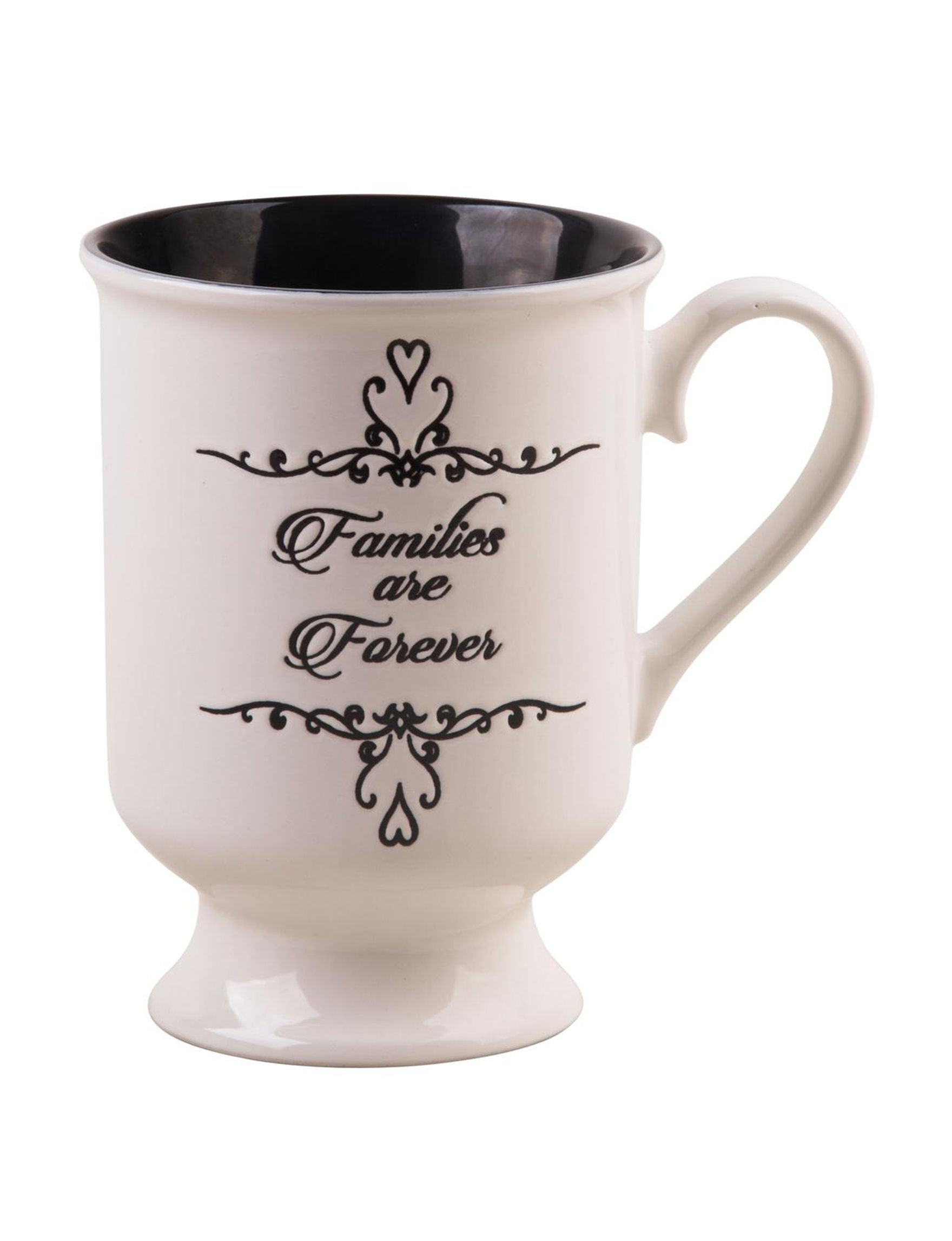 Home Essentials White / Black Mugs Drinkware