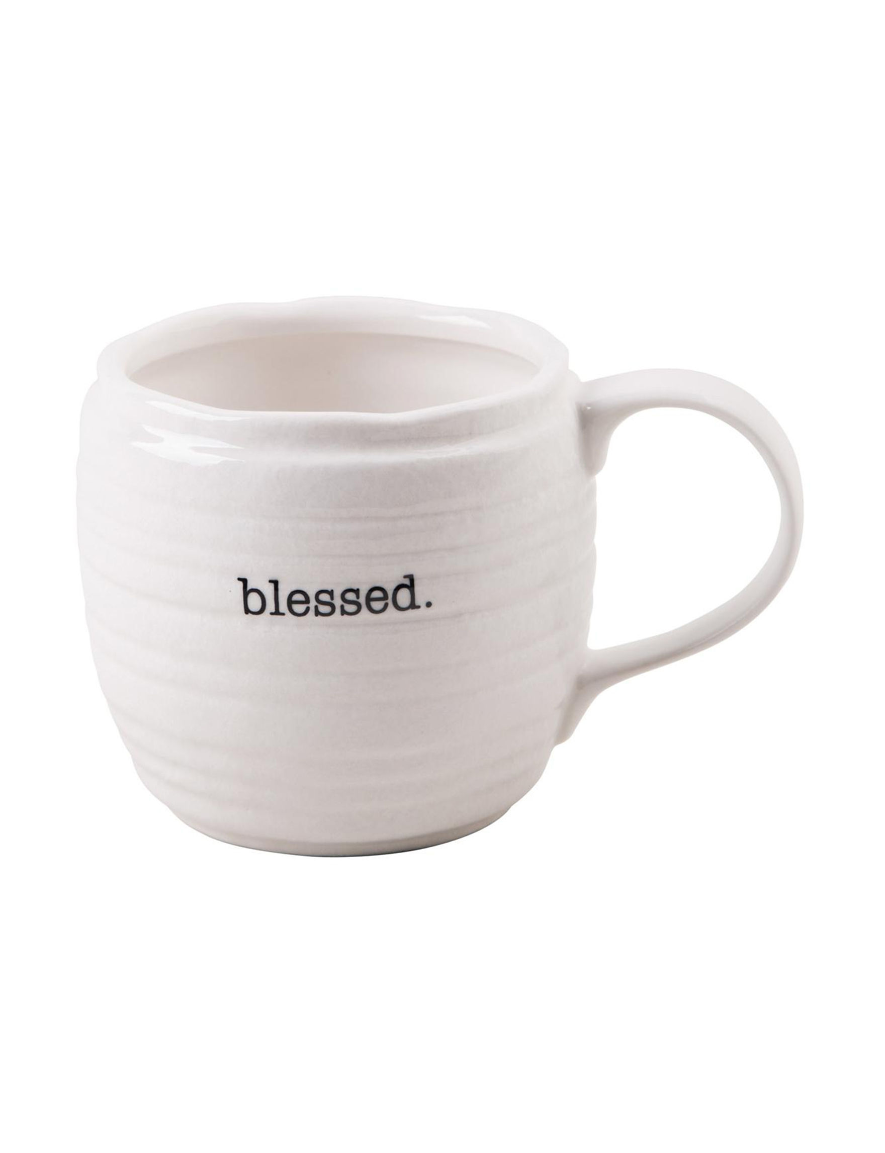 Home Essentials White Mugs Drinkware