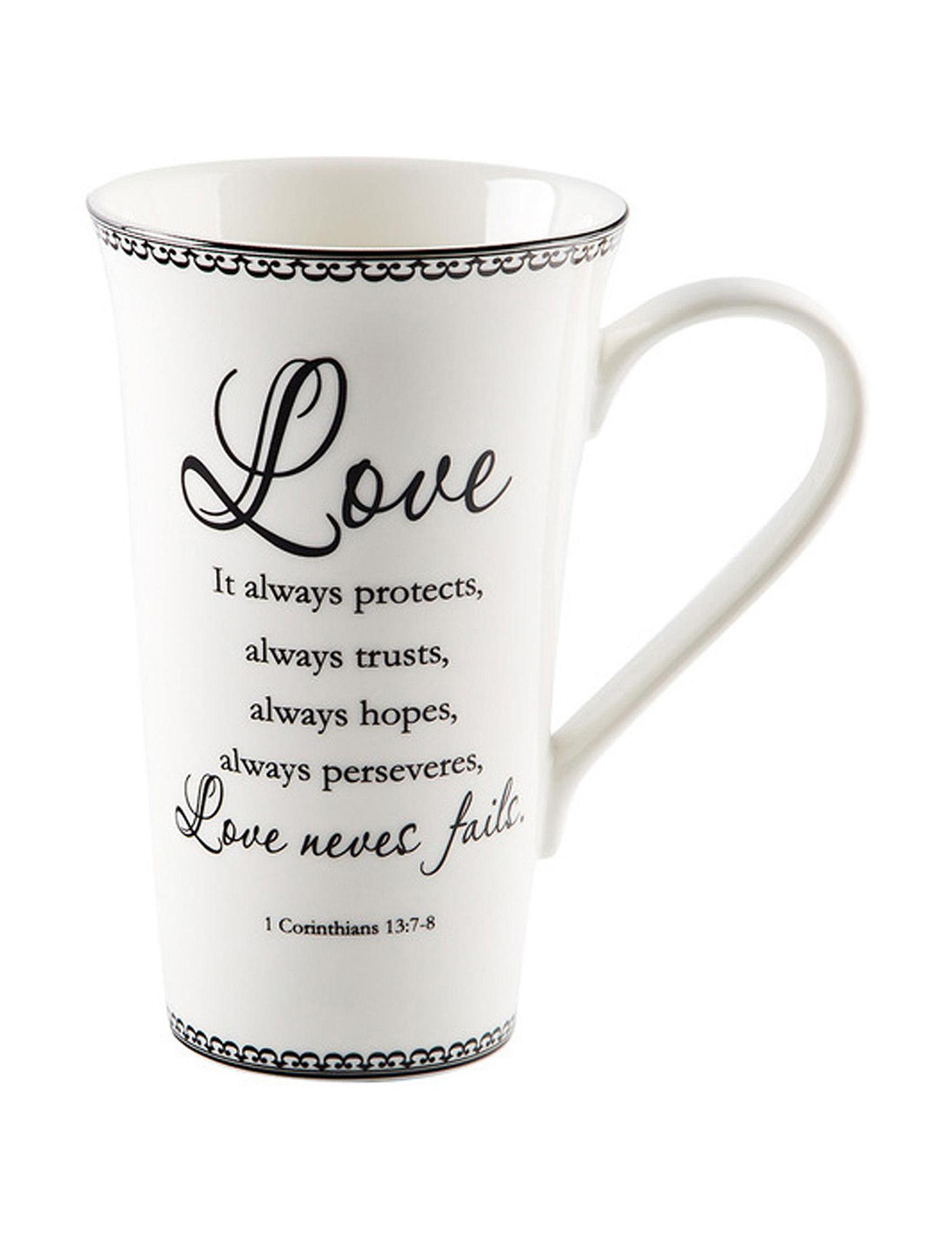 Home Essentials White / Black Mugs Drinkware